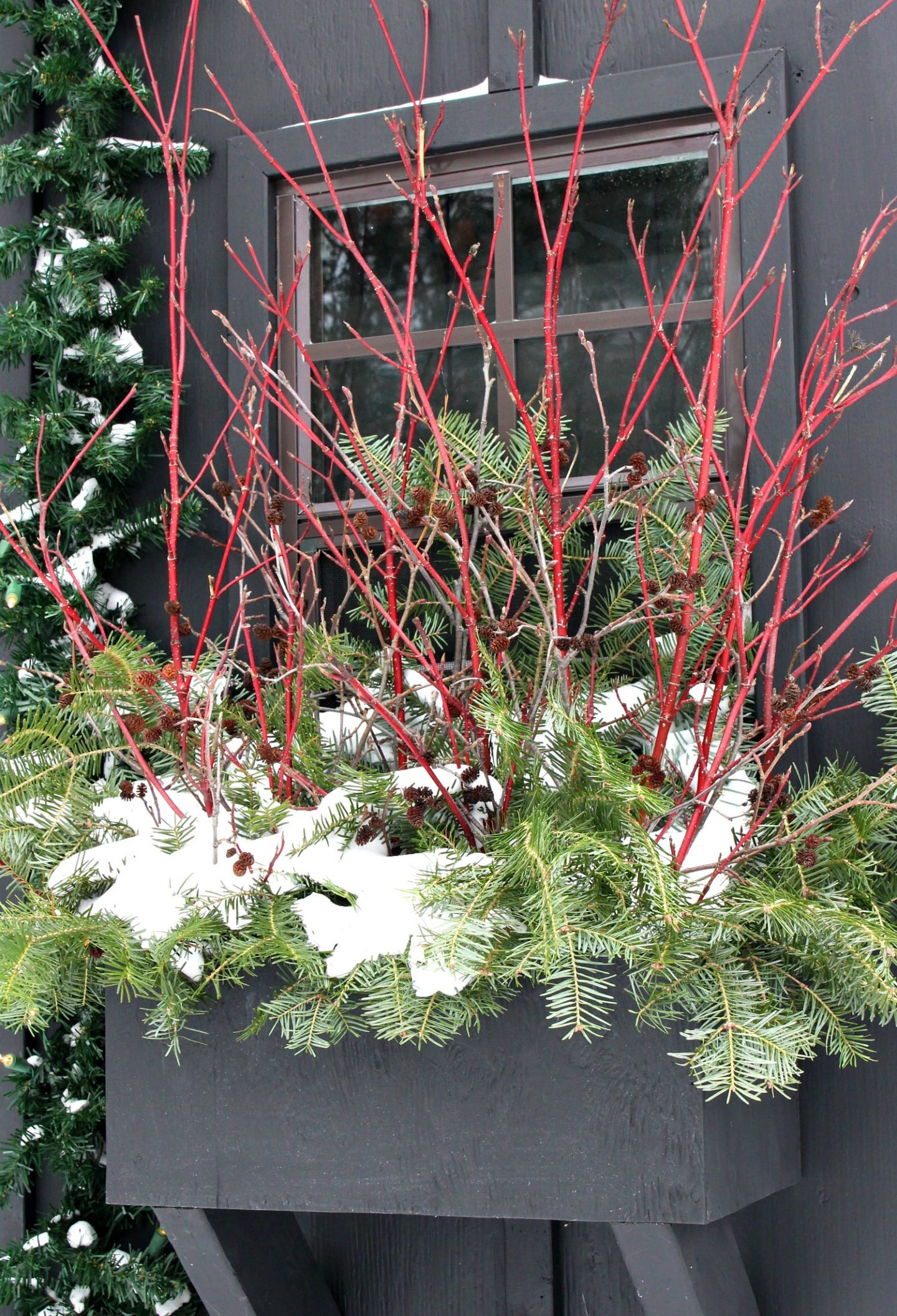 How to Make a Winter Window Box