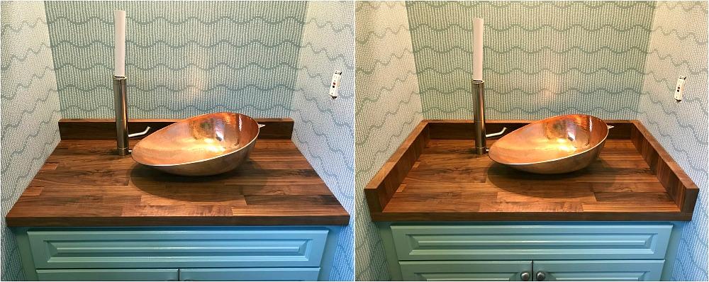 Bathroom Counter Side Splash or No Side Splash
