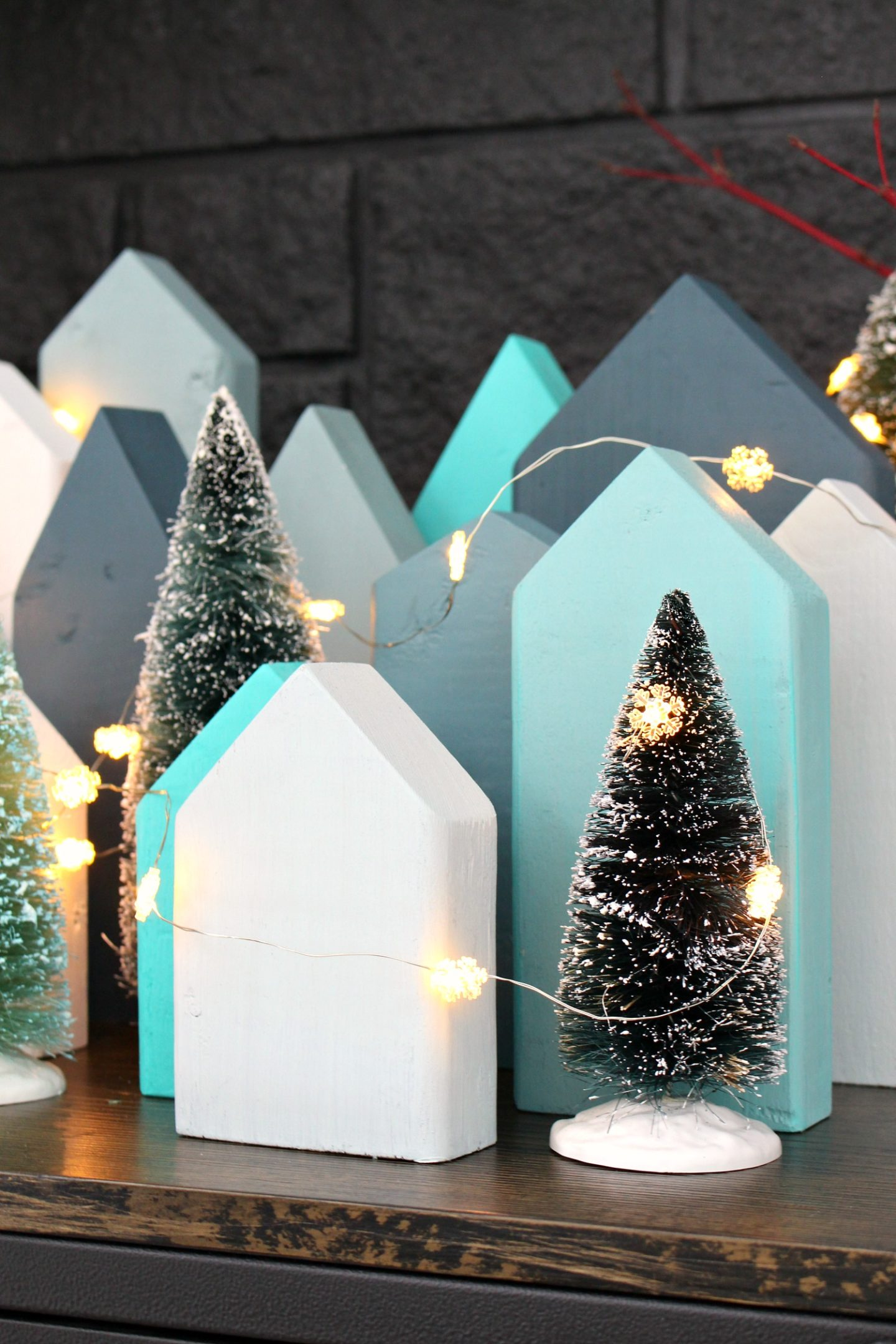 DIY Christmas Village Using Wood Scraps