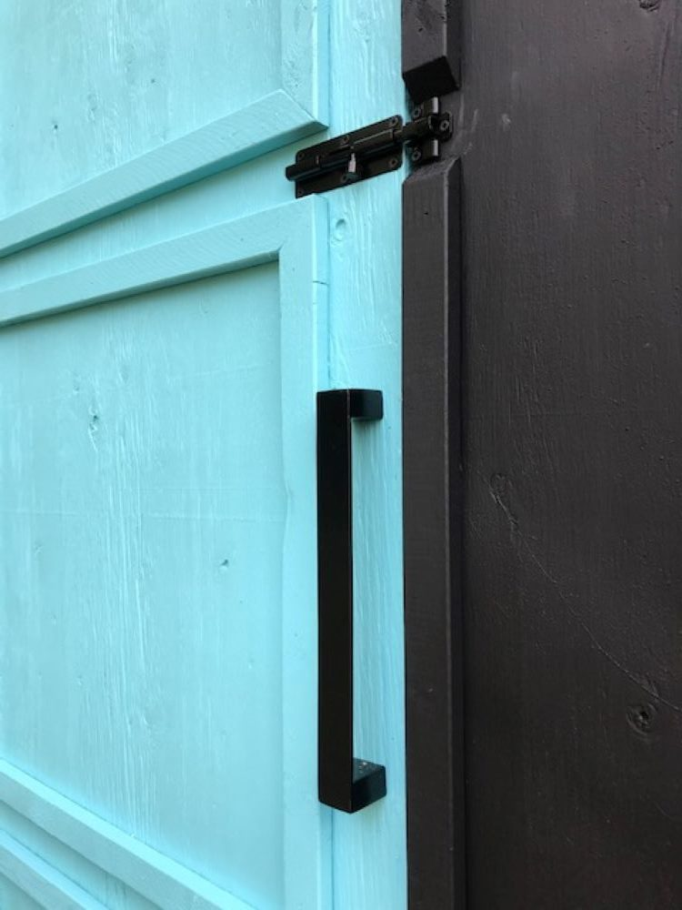 Modern Door Hardware for Chicken Coop