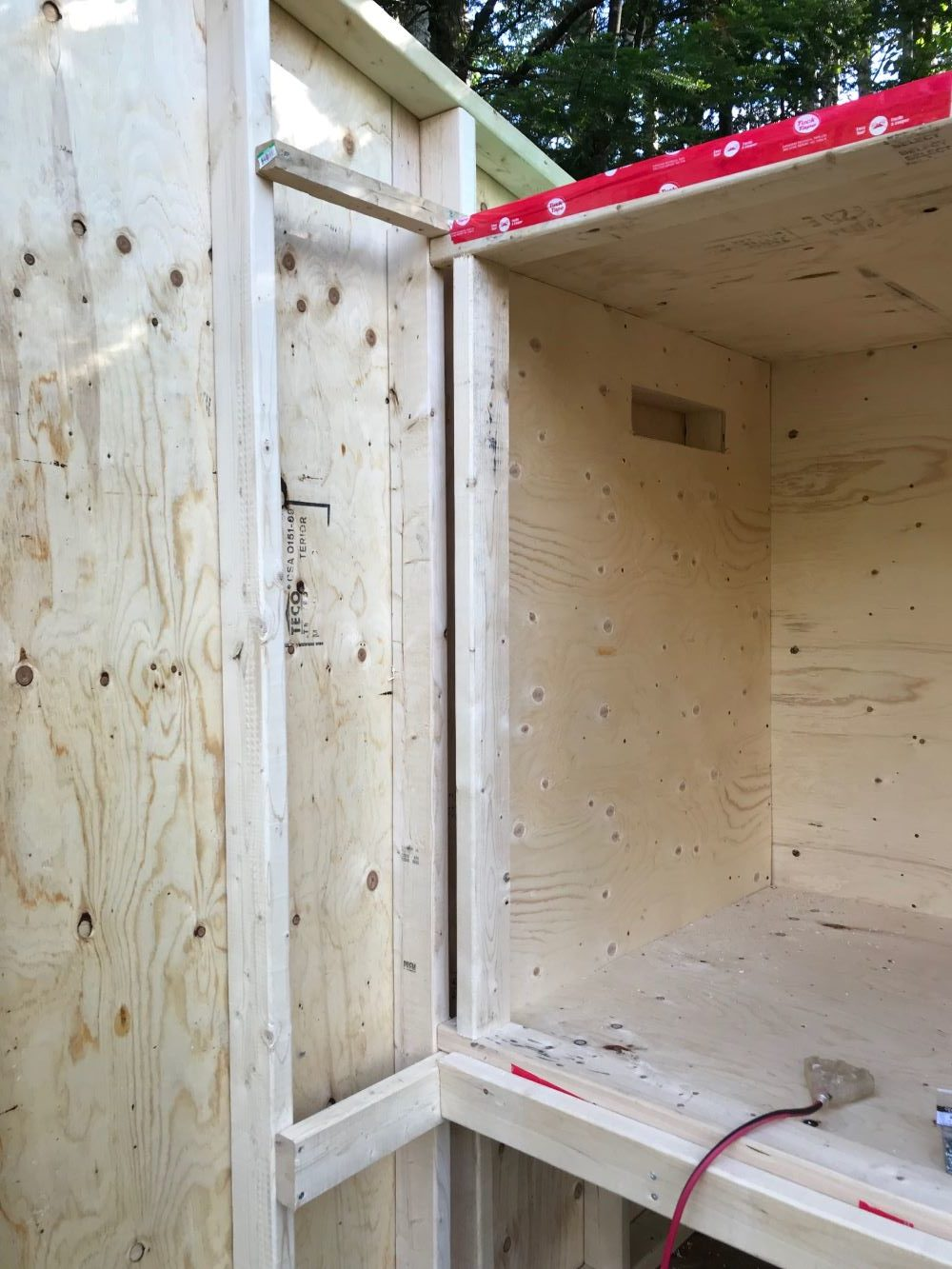 DIY Chicken Coop Hidden Inside Shed