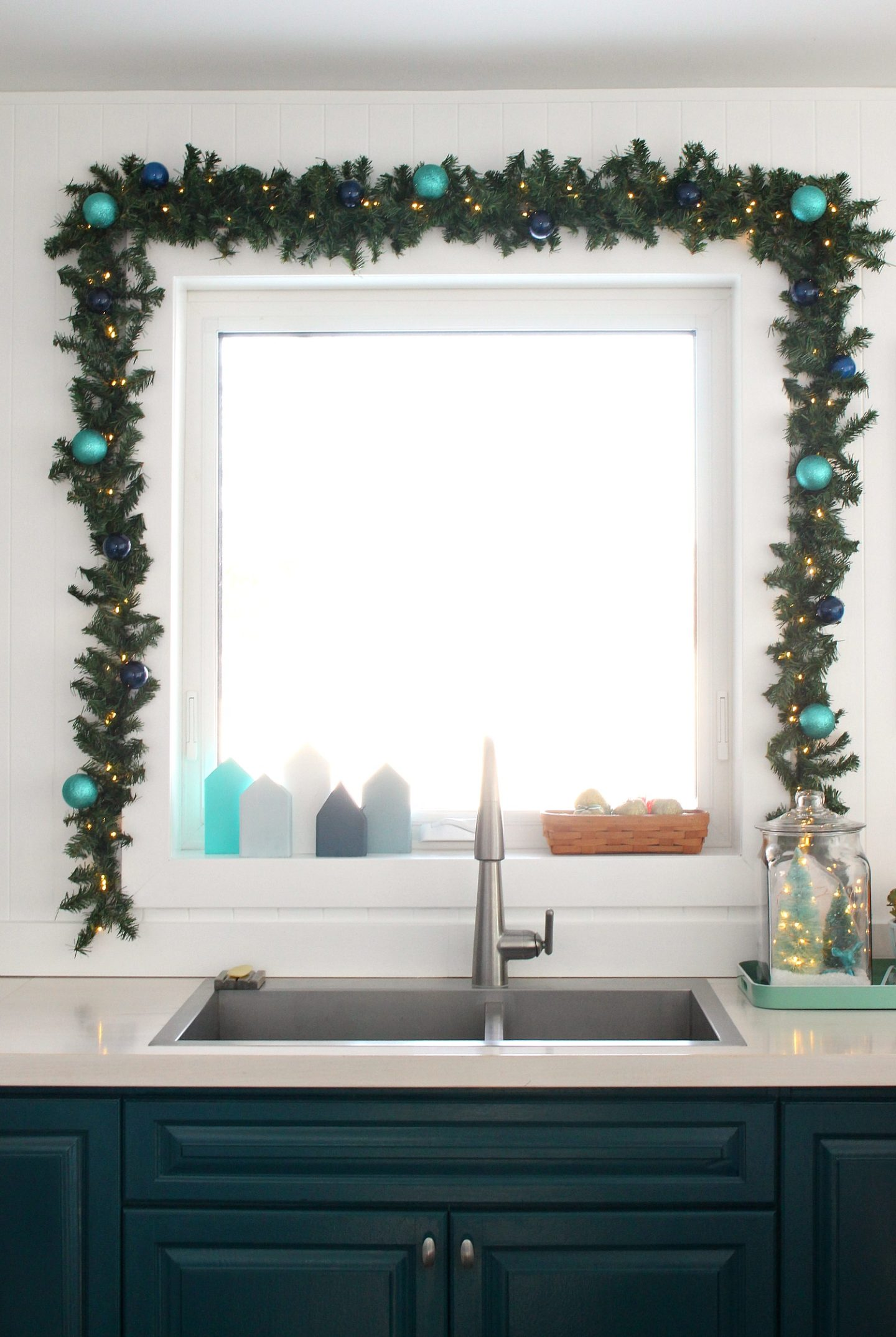 How to Hang Garland Around a Window