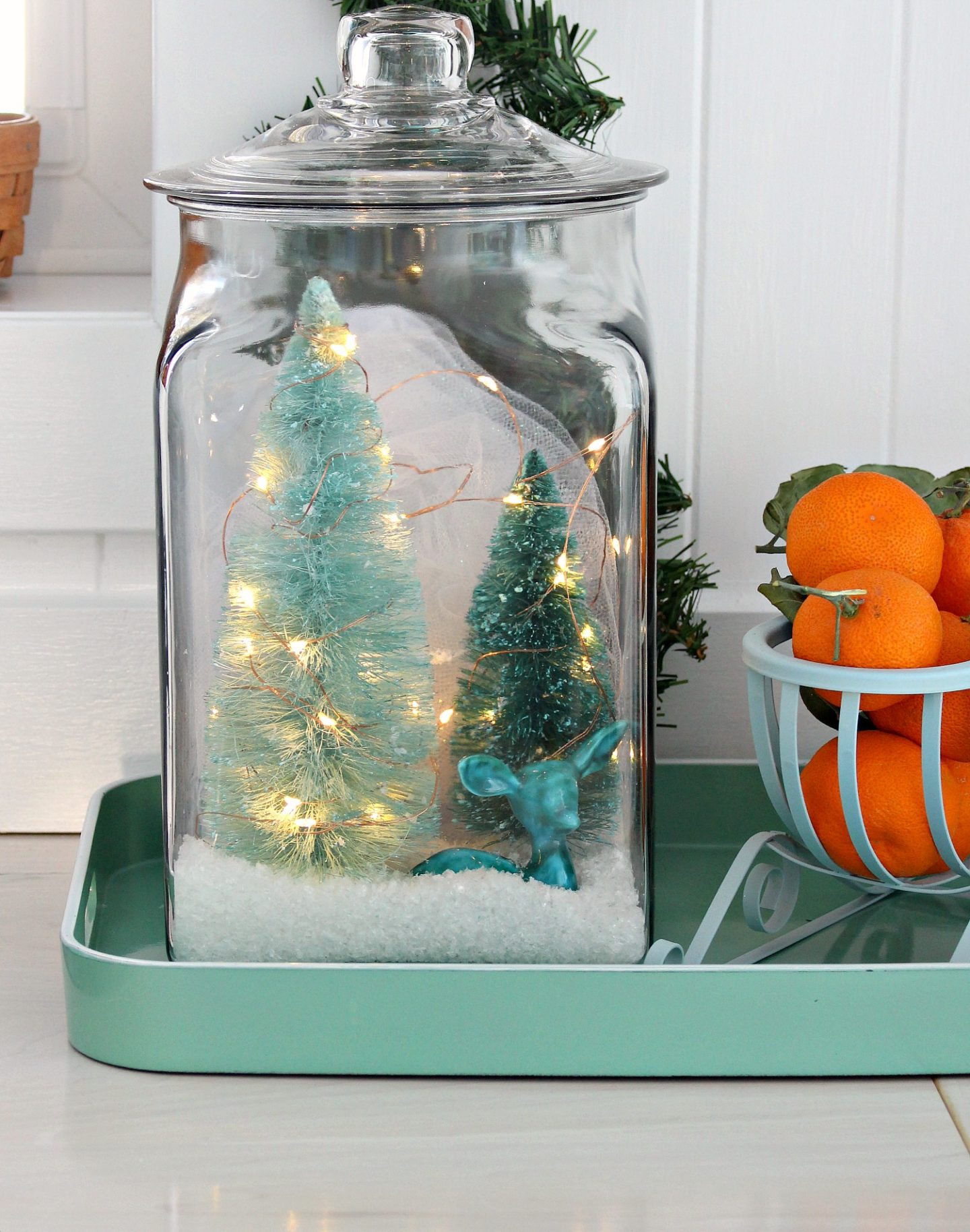 Diy Glass Jar Winter Scene Upcycled Holiday Decor Dans