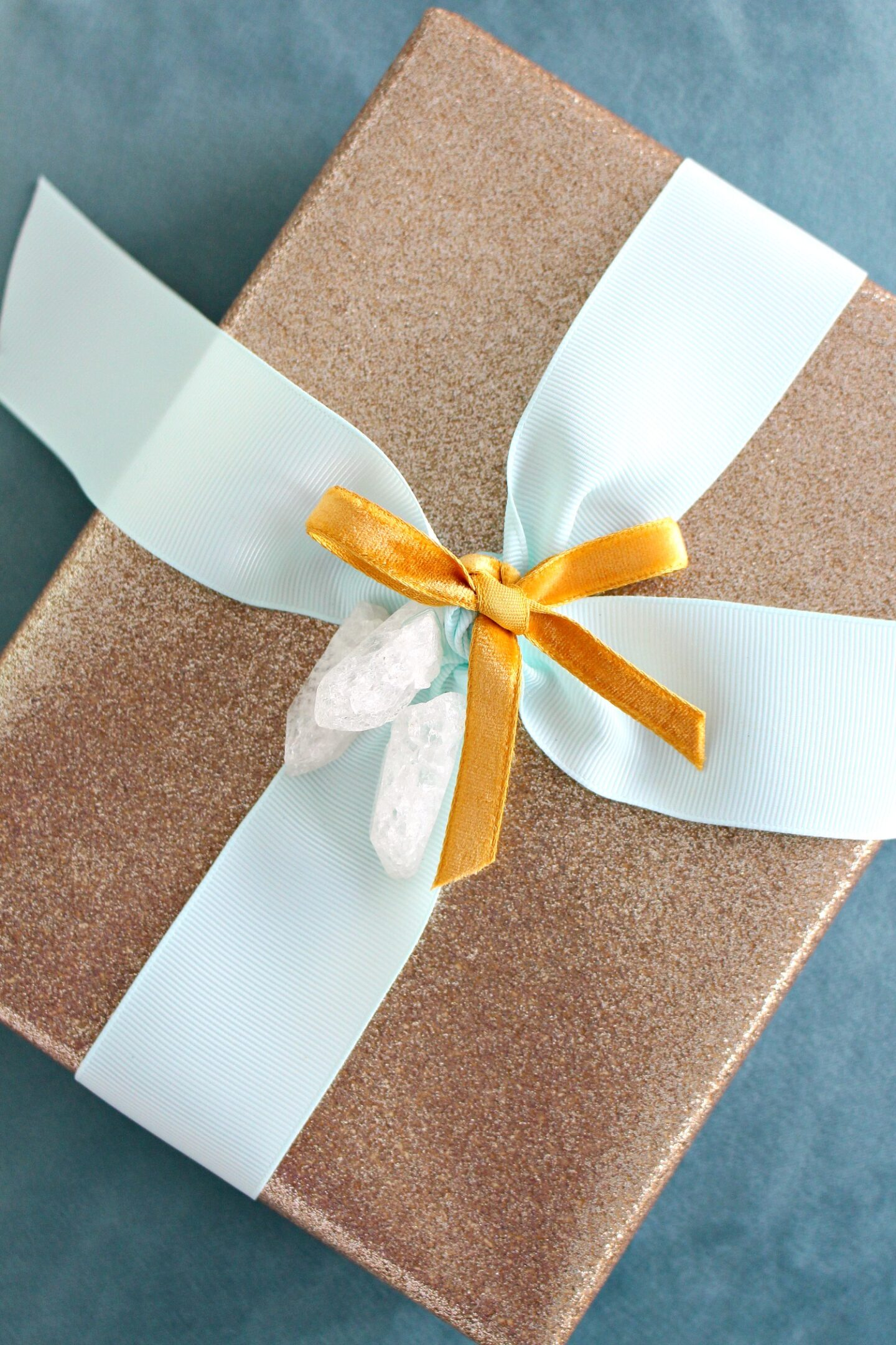 Glam Gift Wrapping Idea with Crystal Point Gift Topper