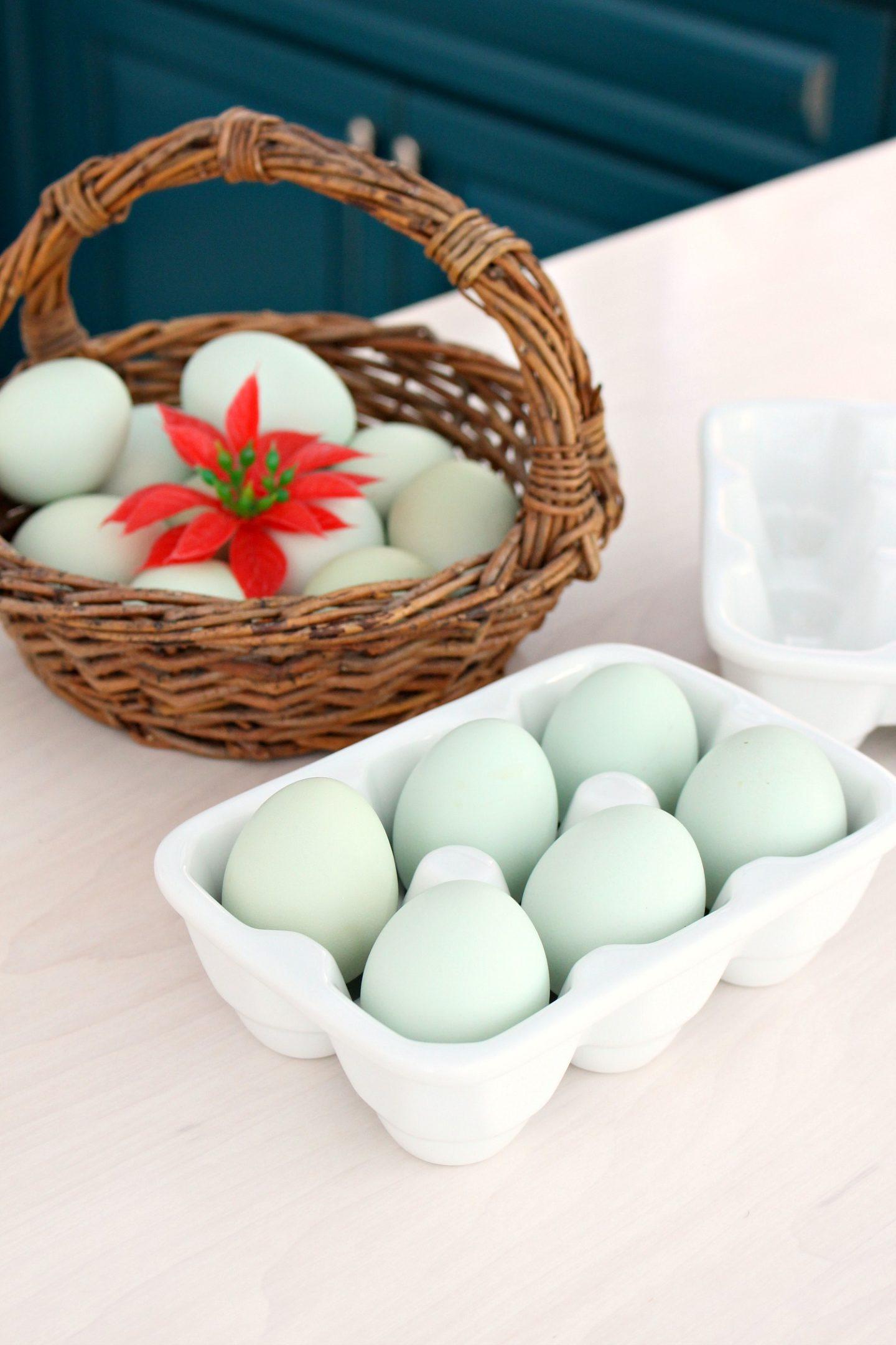 Holiday Baking Aqua Eggs
