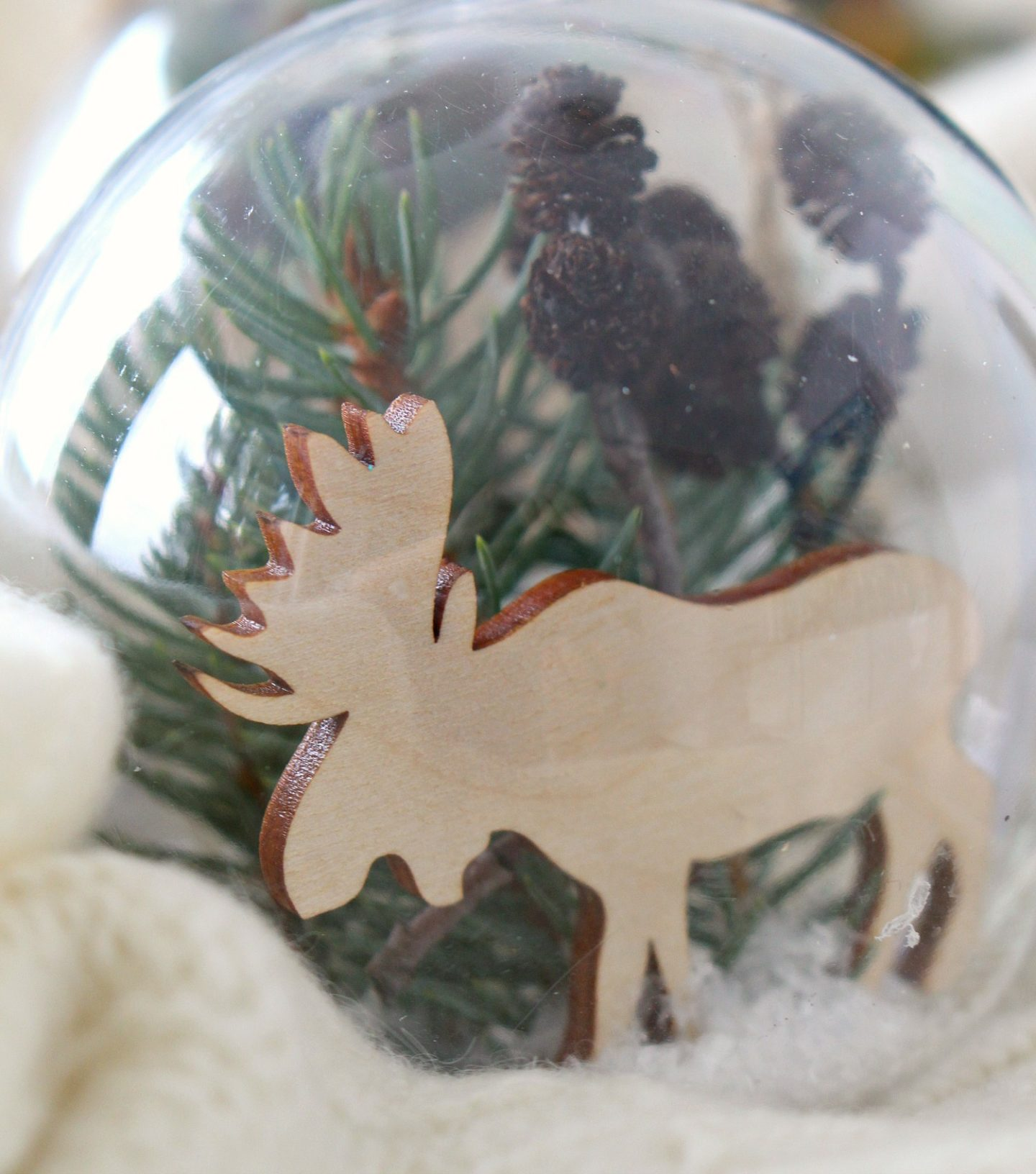 Wintery Fillable Ornament DIY