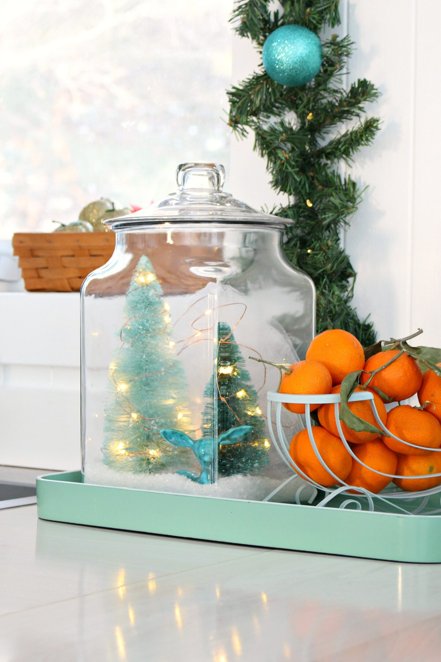 DIY Winter Scene in a Glass Jar