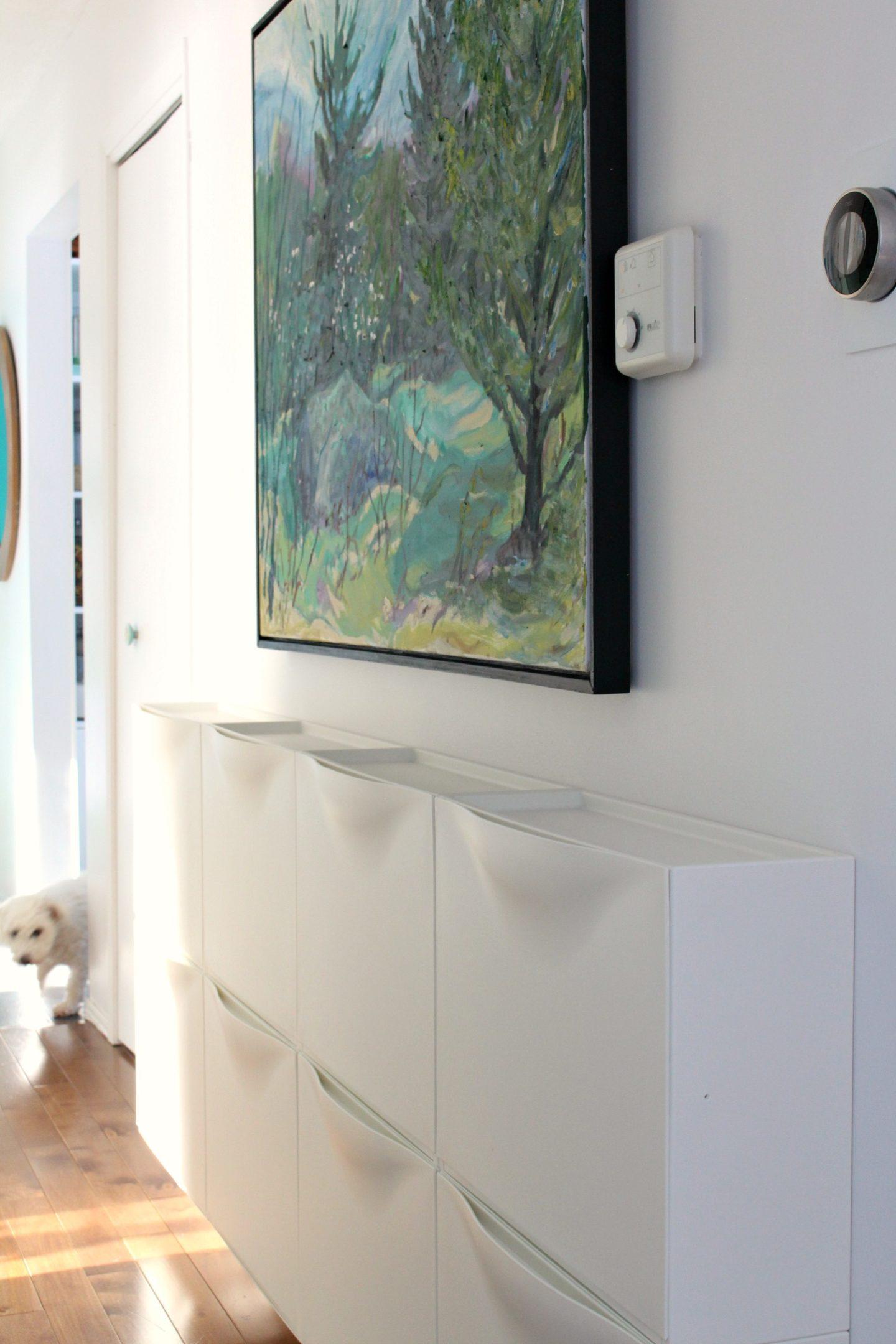 Narrow Entryway Storage Solution | IKEA TRONES