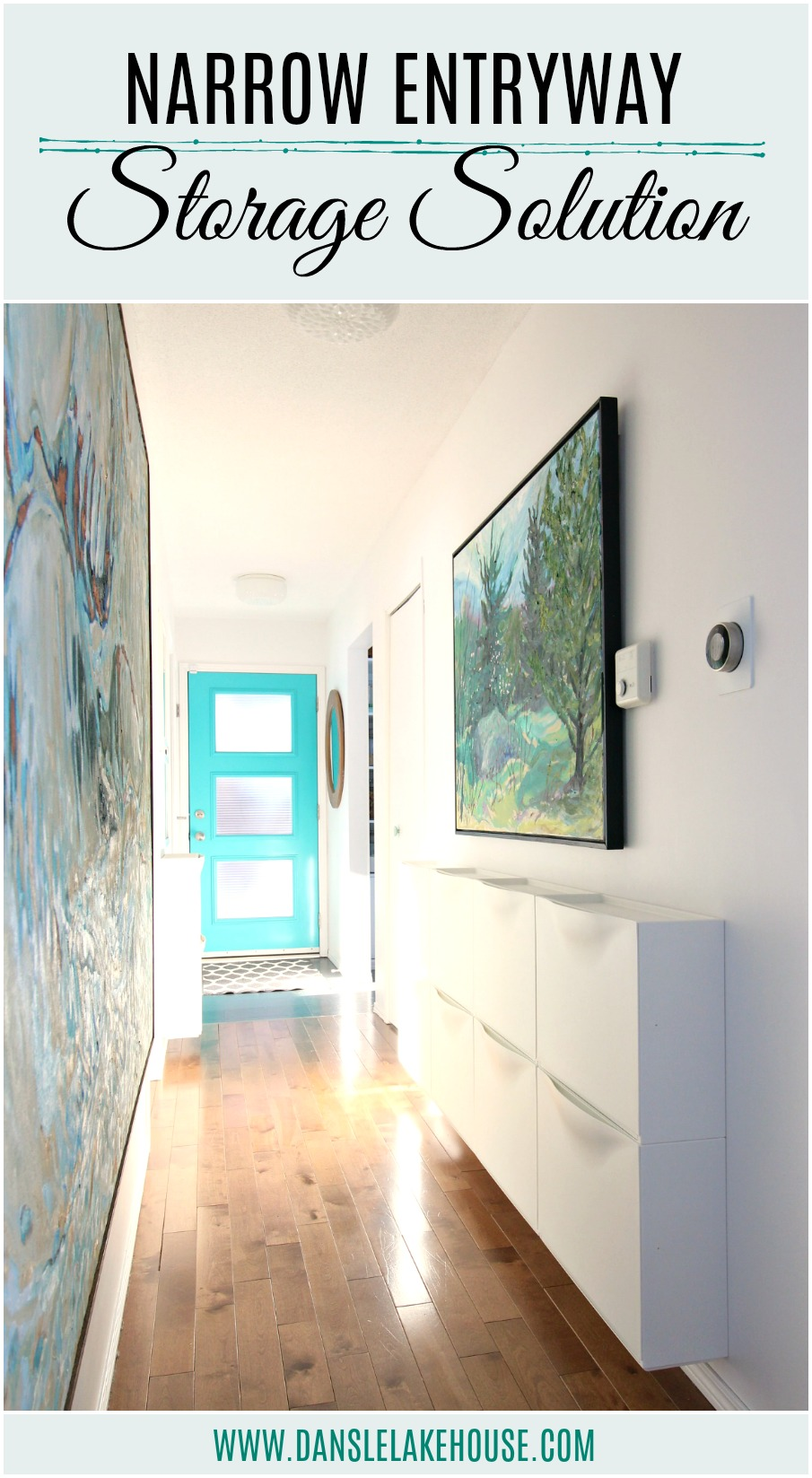narrow entryway storage solution