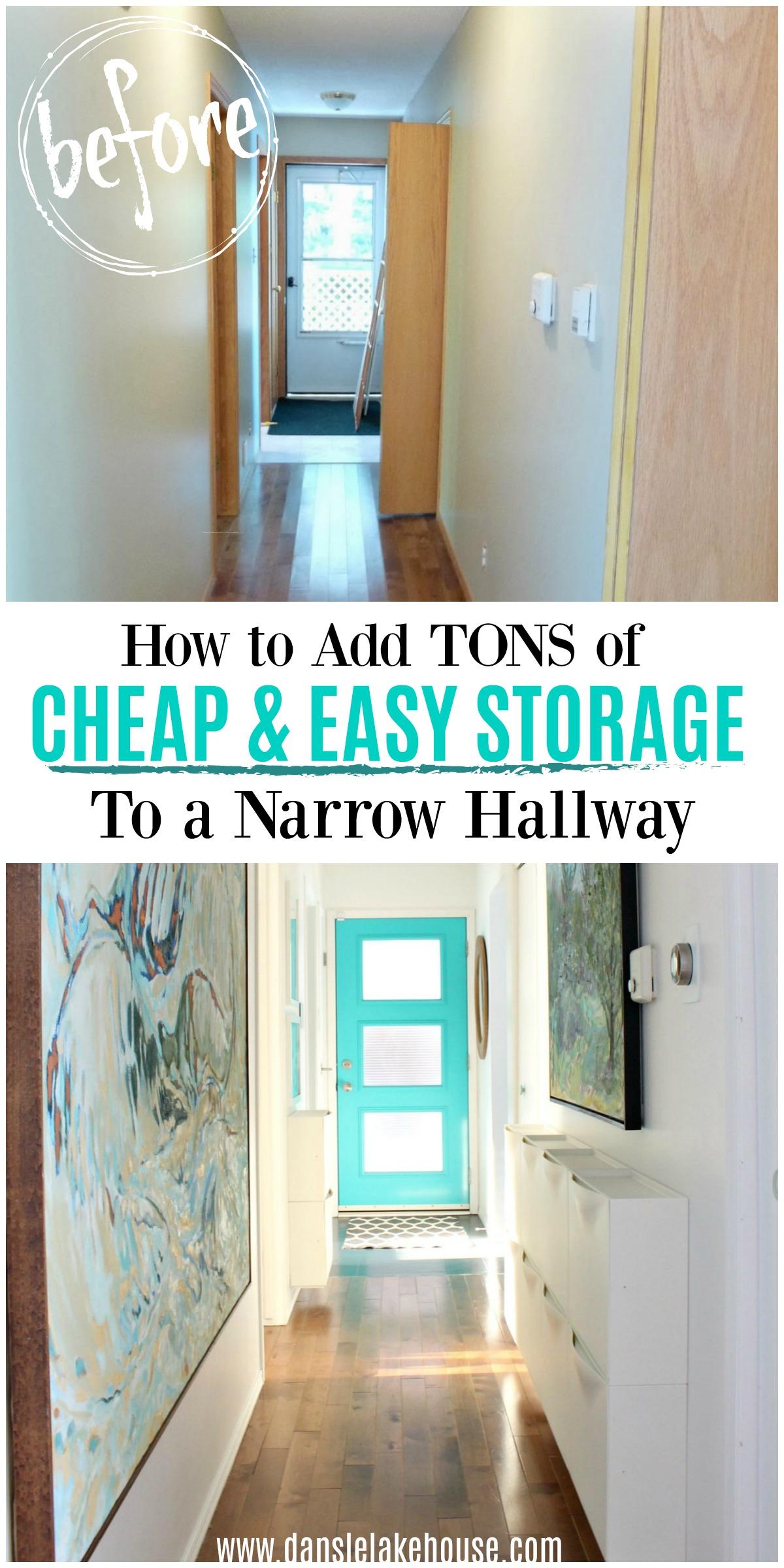 How to Add Cheap & Easy Storage to a Narrow Hallway
