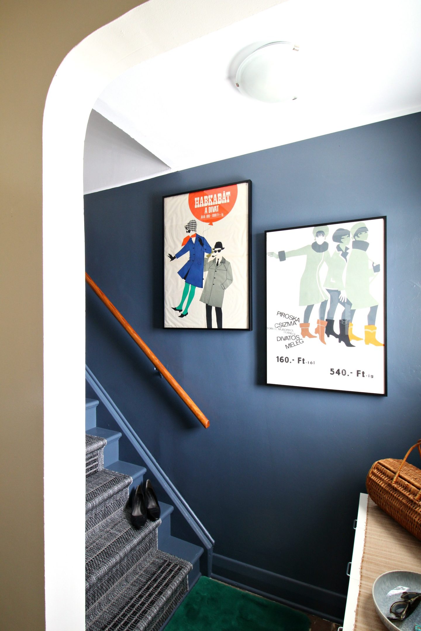 grey painted stairs makeover