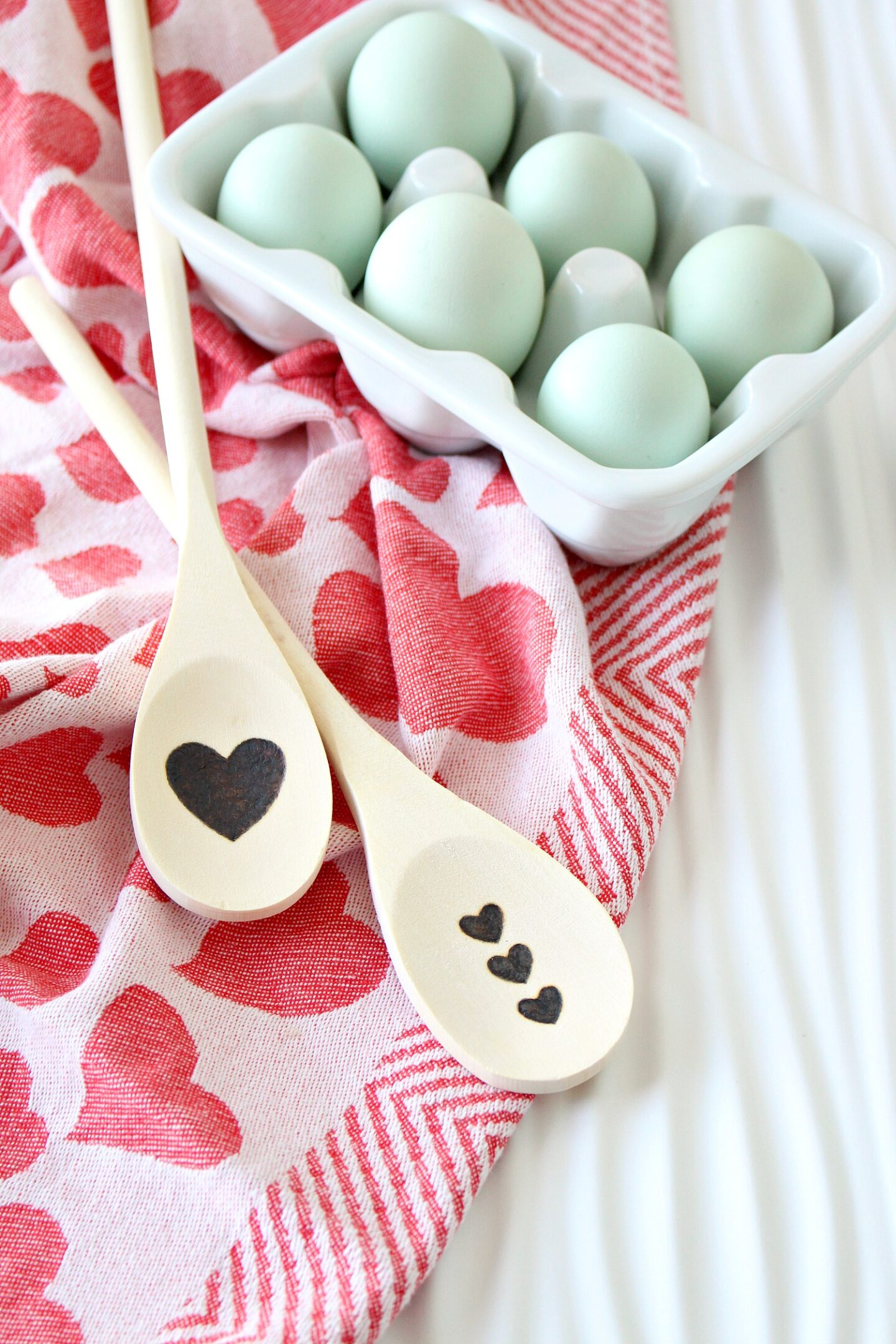 Heart Wood Burned Spoon DIY Gift for Cooks