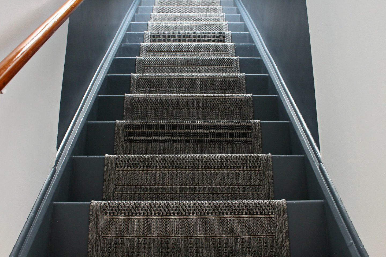 Grey Stair Runner DIY