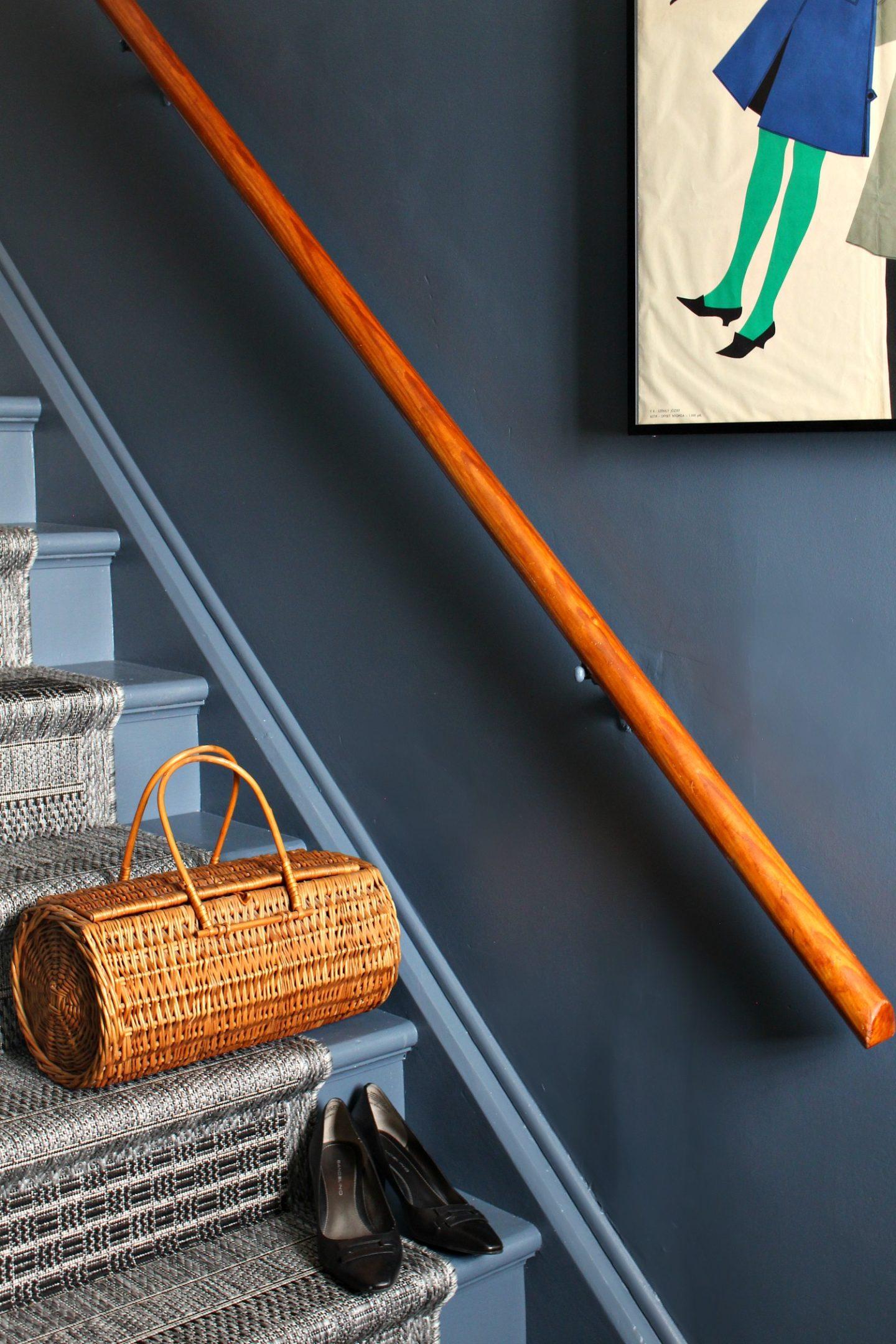 Wooden Stairs Painted Dark Grey