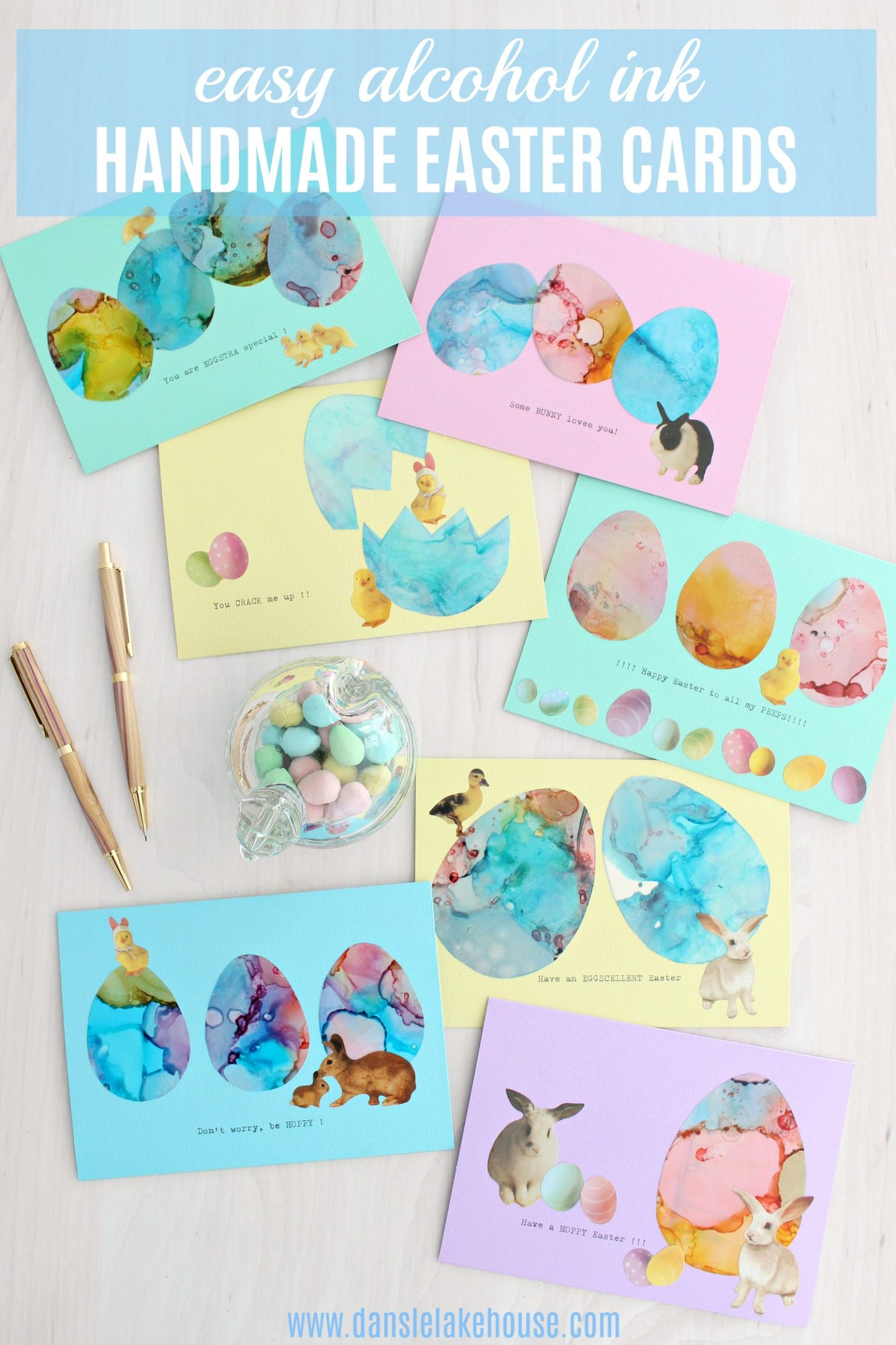 easy handmade easter cards using alcohol inks