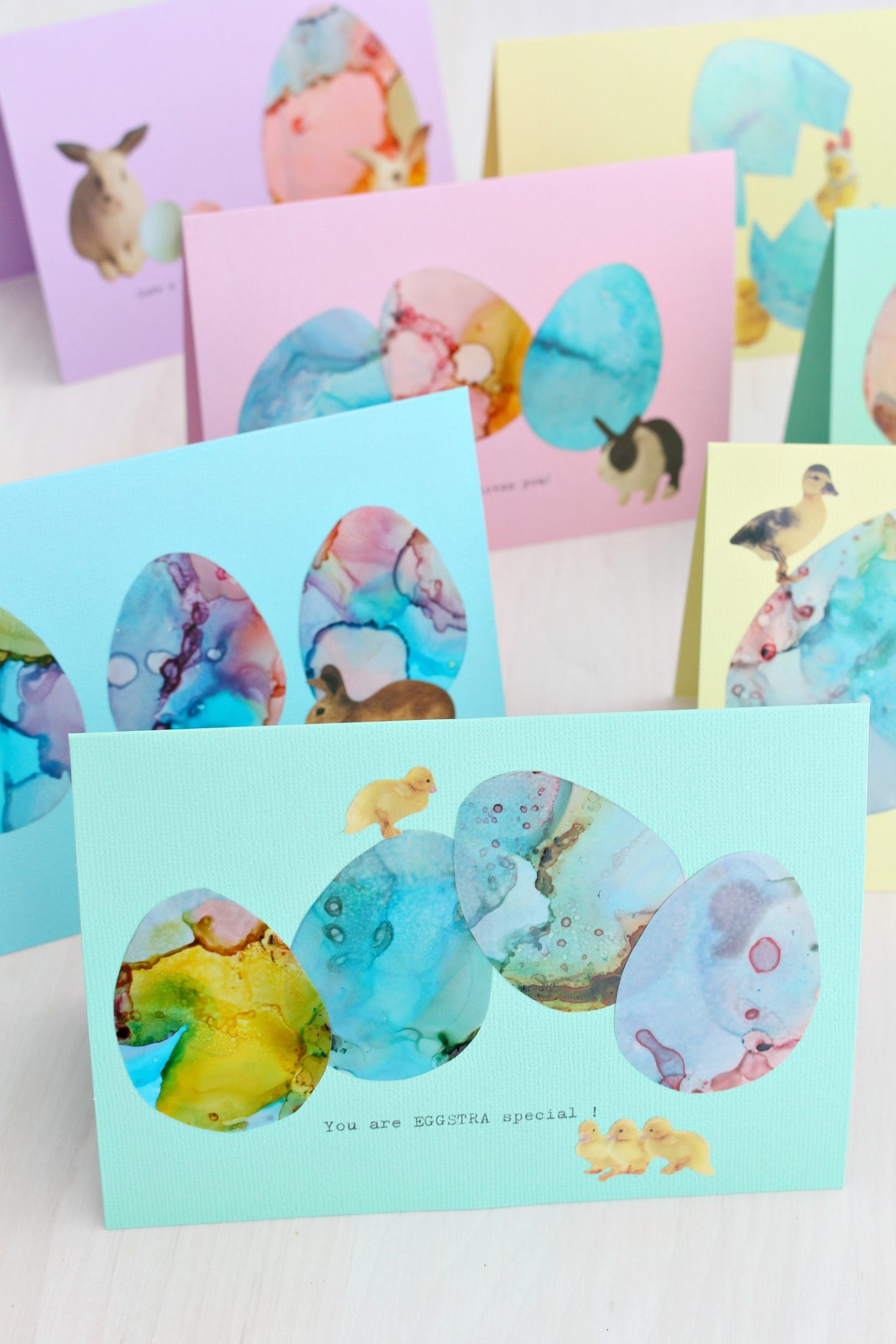 alcohol ink Easter card DIY tutorial