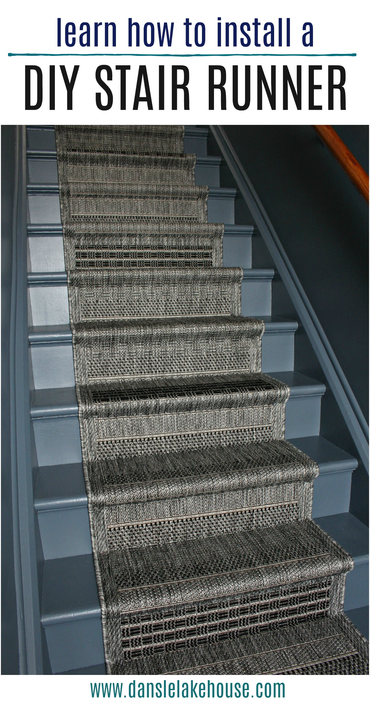 learn how to install a DIY stair runner