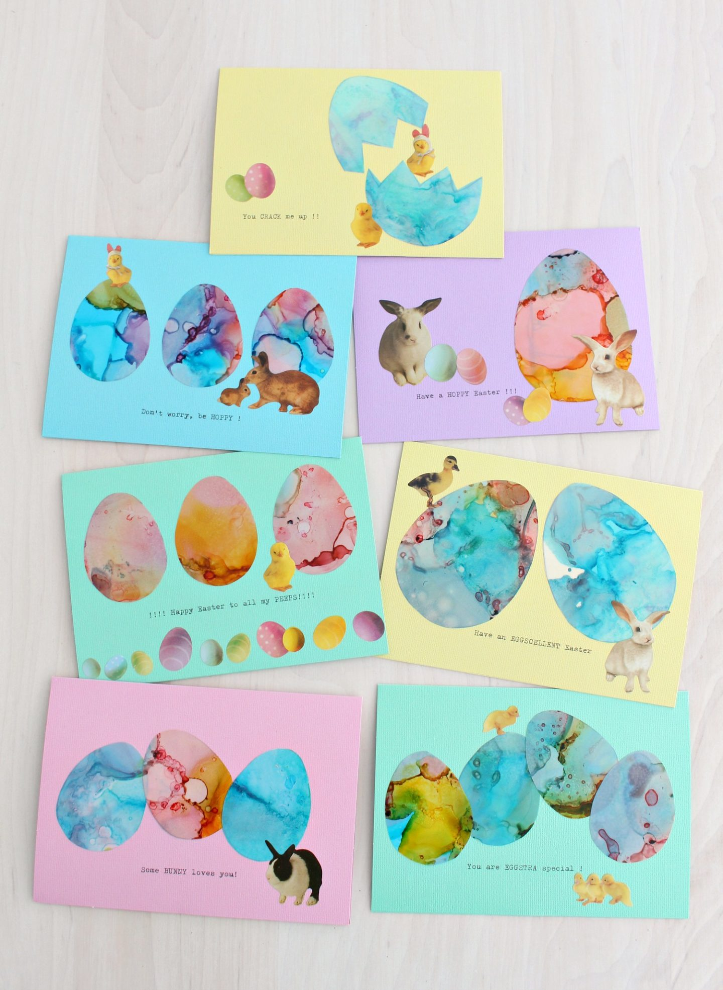 cute and easy DIY Easter cards with puns