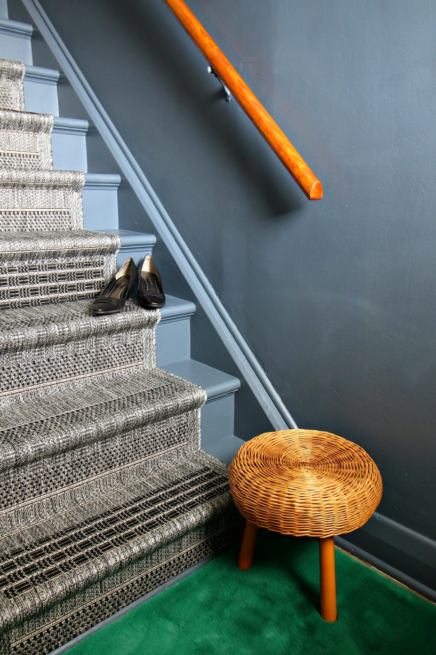 grey stairwell makeover