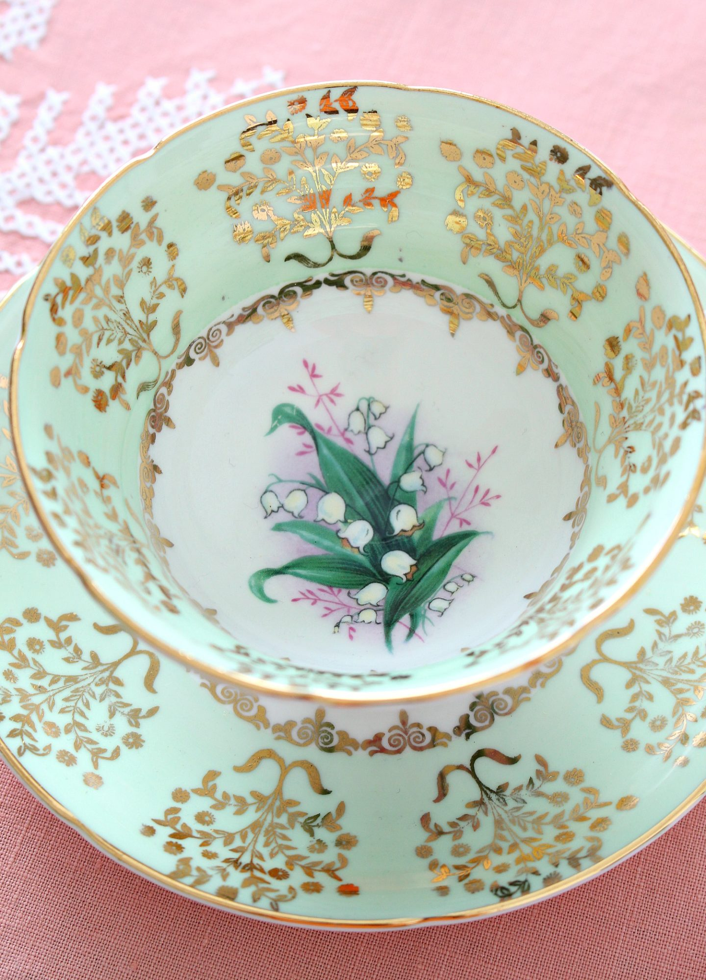 lily of the valley tea cup