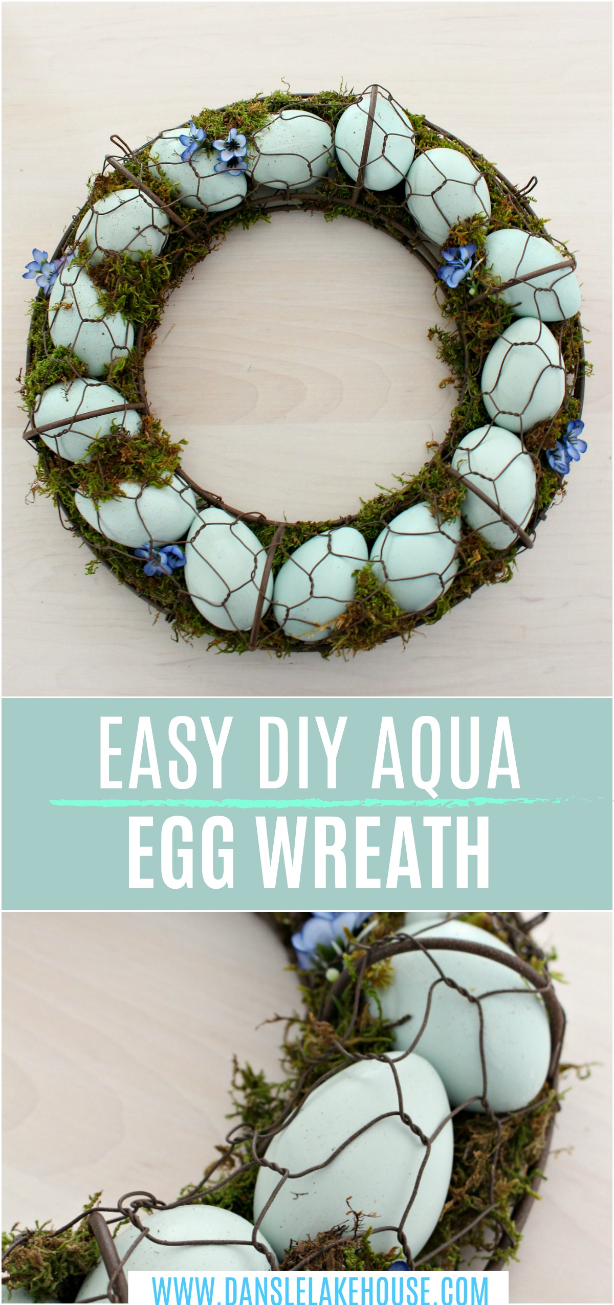Easy DIY Aqua Egg Wreath