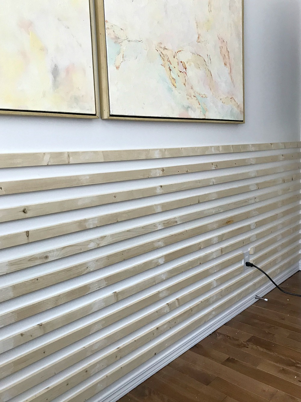 DIY Horizontal Slatted Wall Tutorial