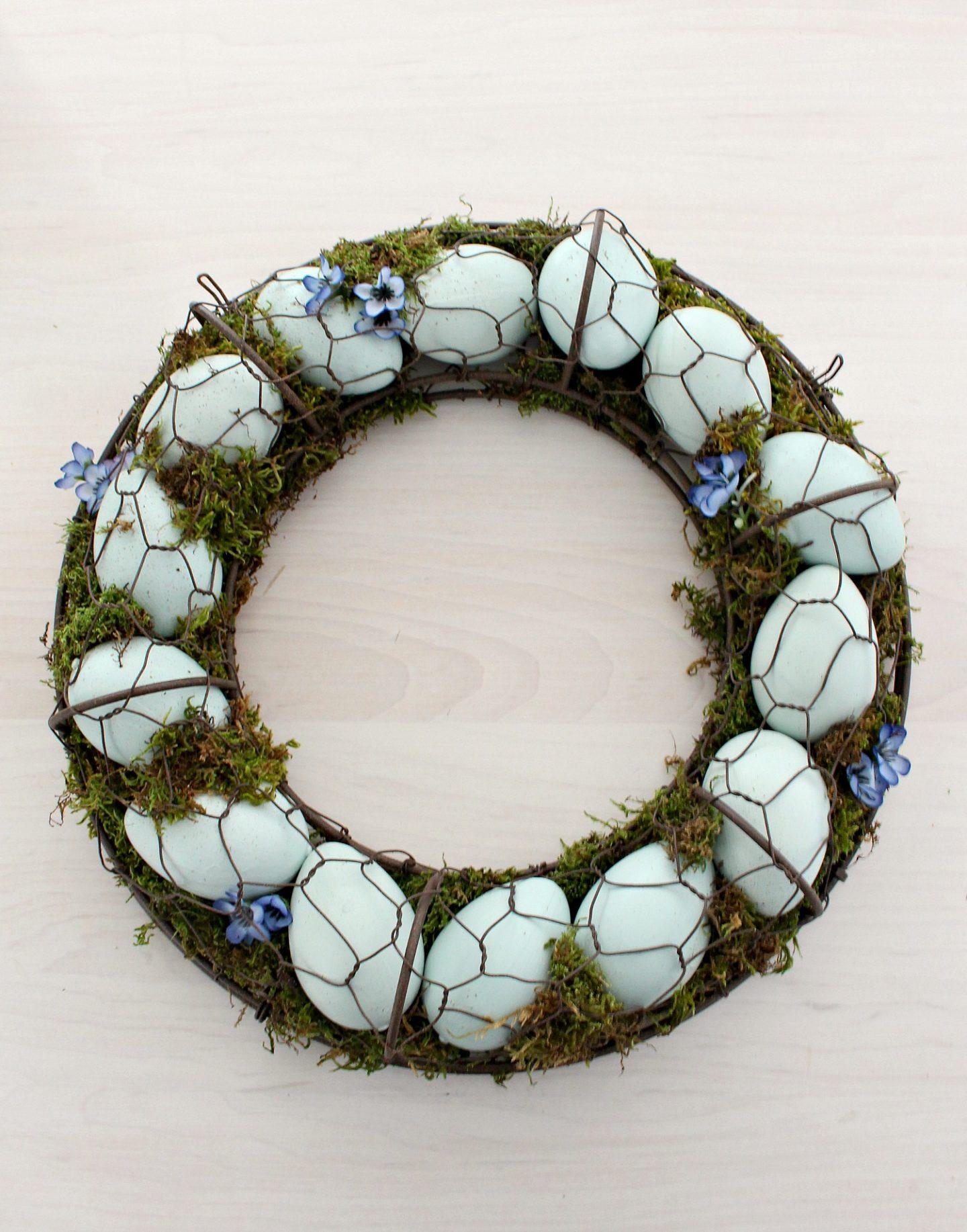 DIY Spring Egg Wreath
