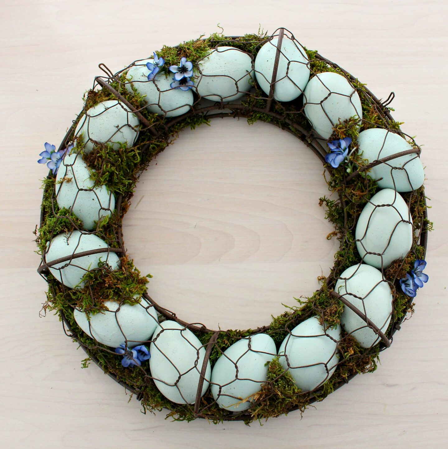 DIY Egg Wreath Idea for Spring