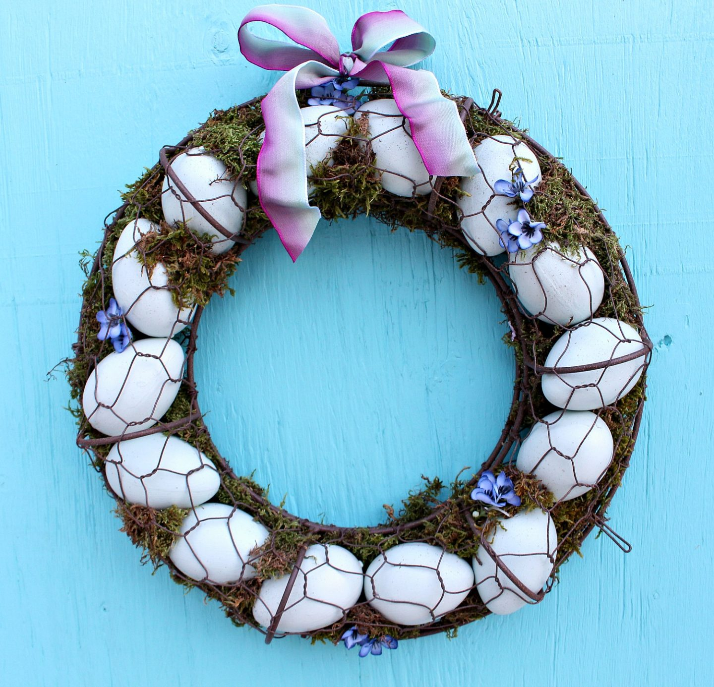 Aqua Egg Wreath