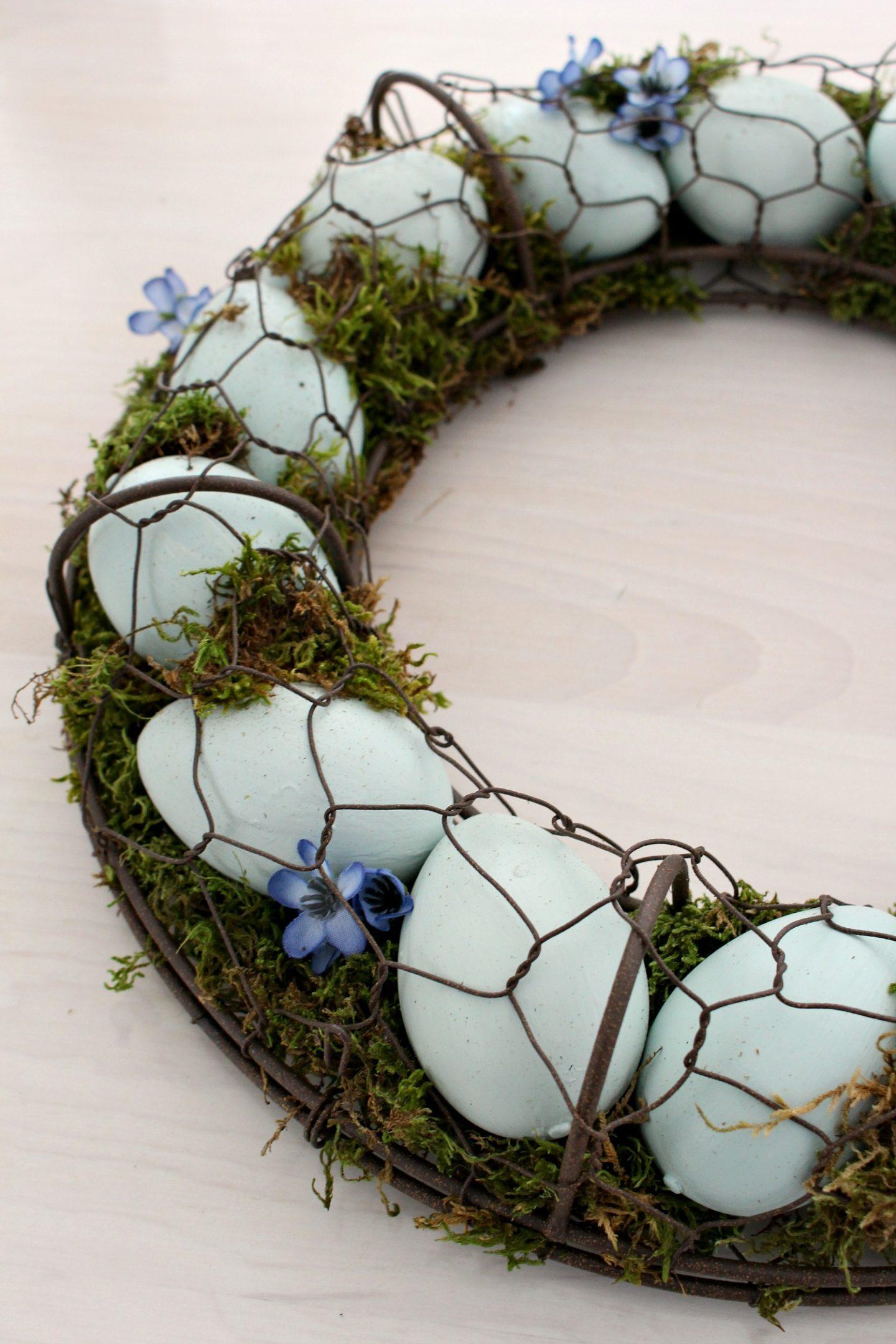 Pale Aqua Egg Wreath