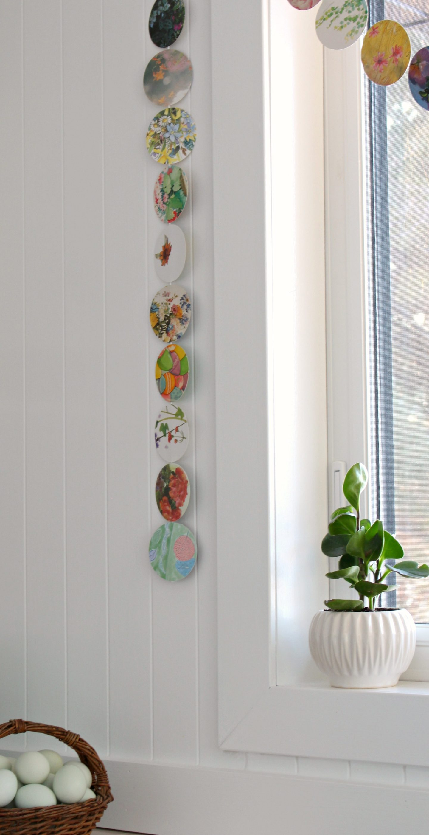 DIY Recycled Card Garland for Spring