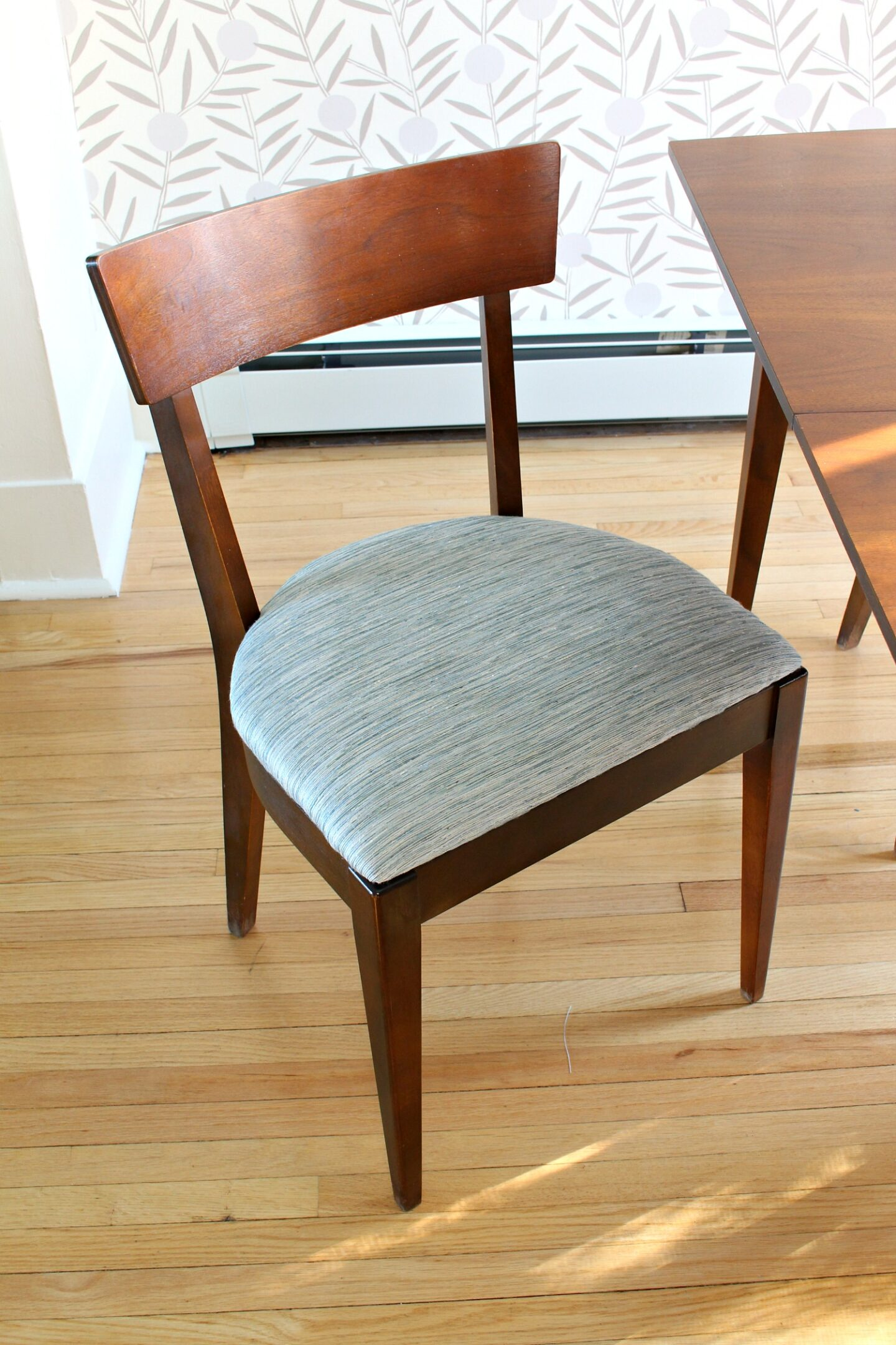 mid-century chair makeover after