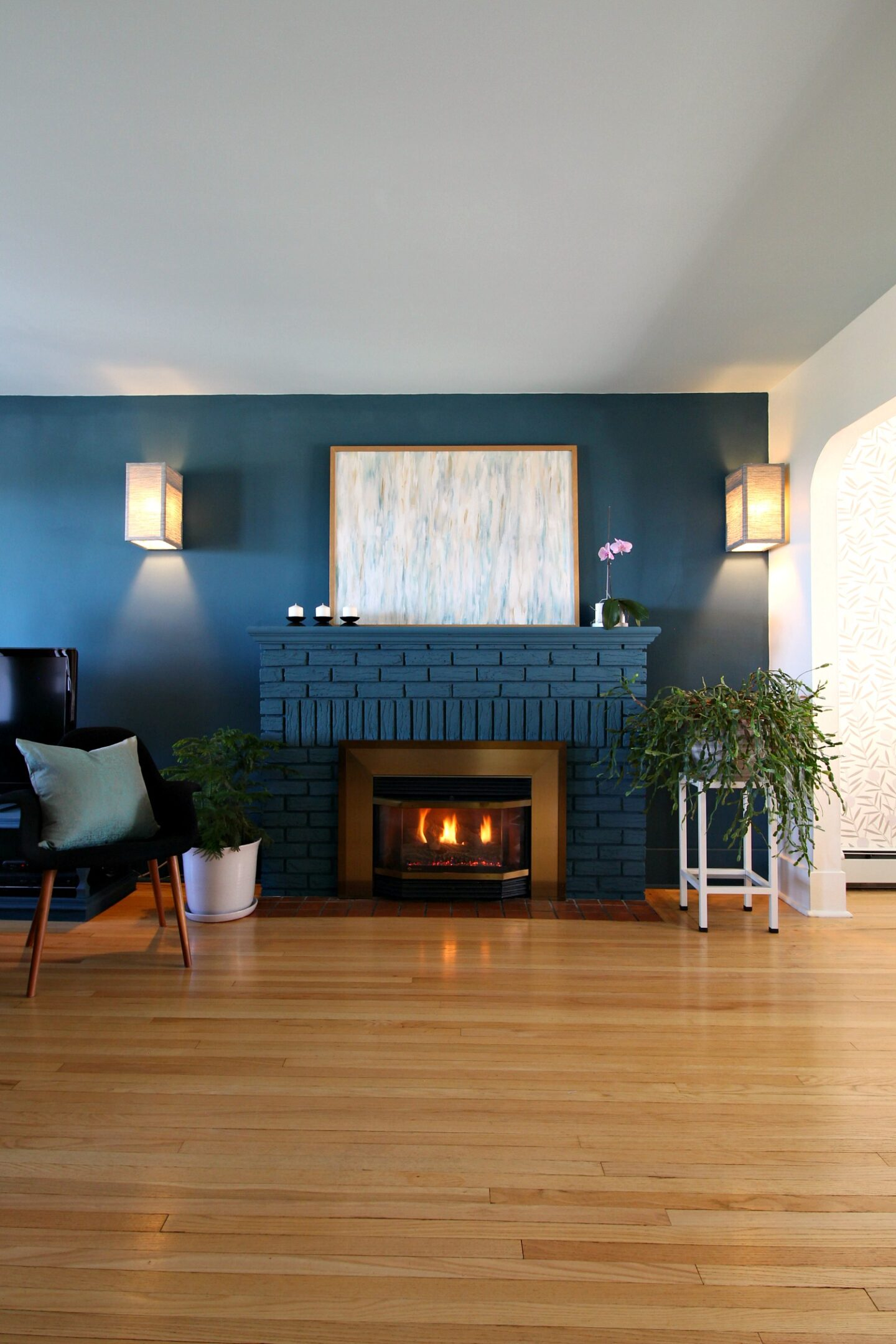 Bold Painted Fireplace Color