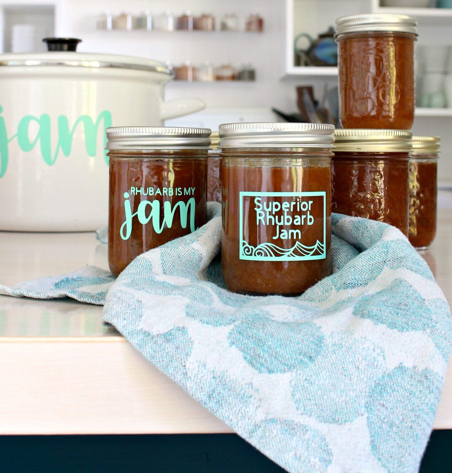 Funny Rhubarb Jam Labels DIY