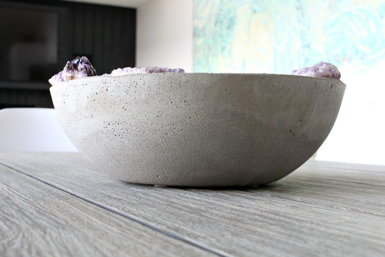 Concrete Amethyst Bowl