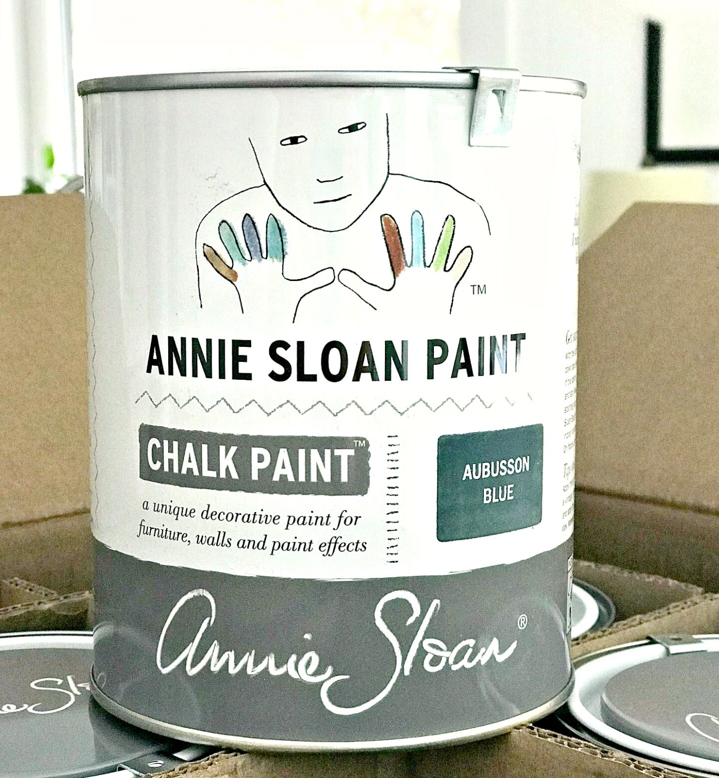 Teal Blue Fireplace Makeover with Chalk Paint