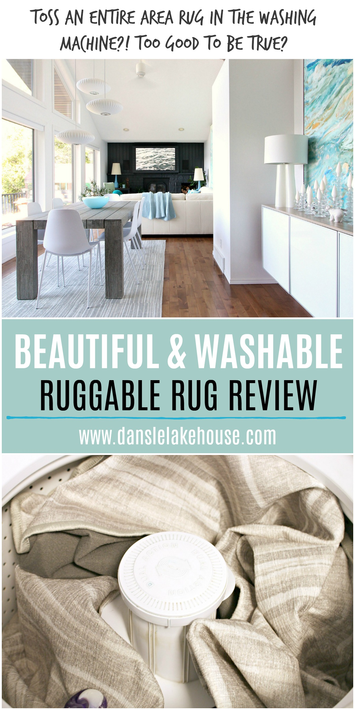 Machine washable area rug review