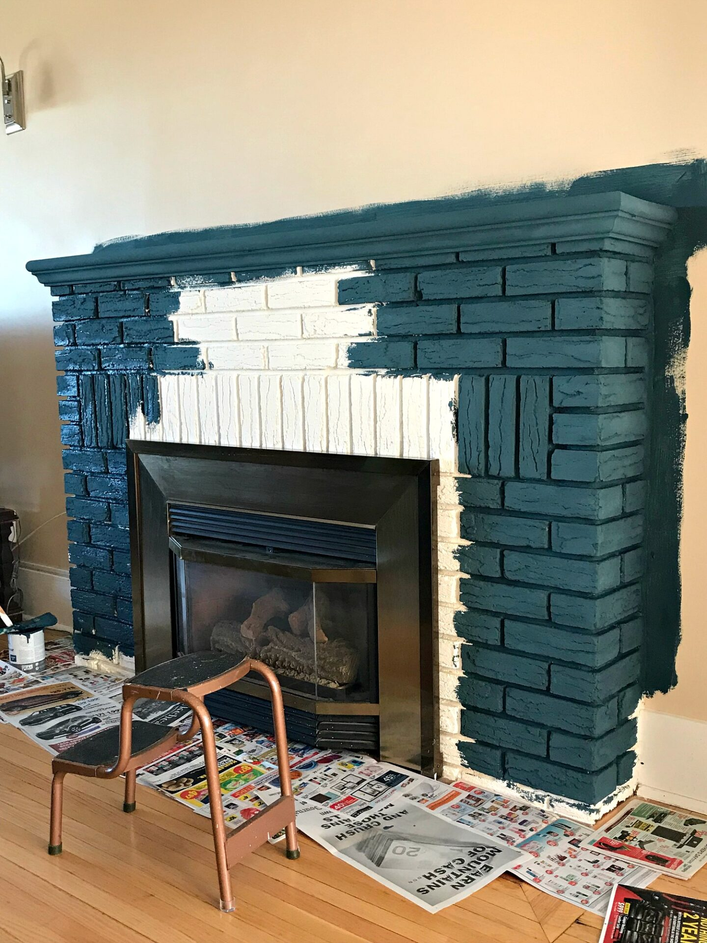 Colorful Fireplace Paint
