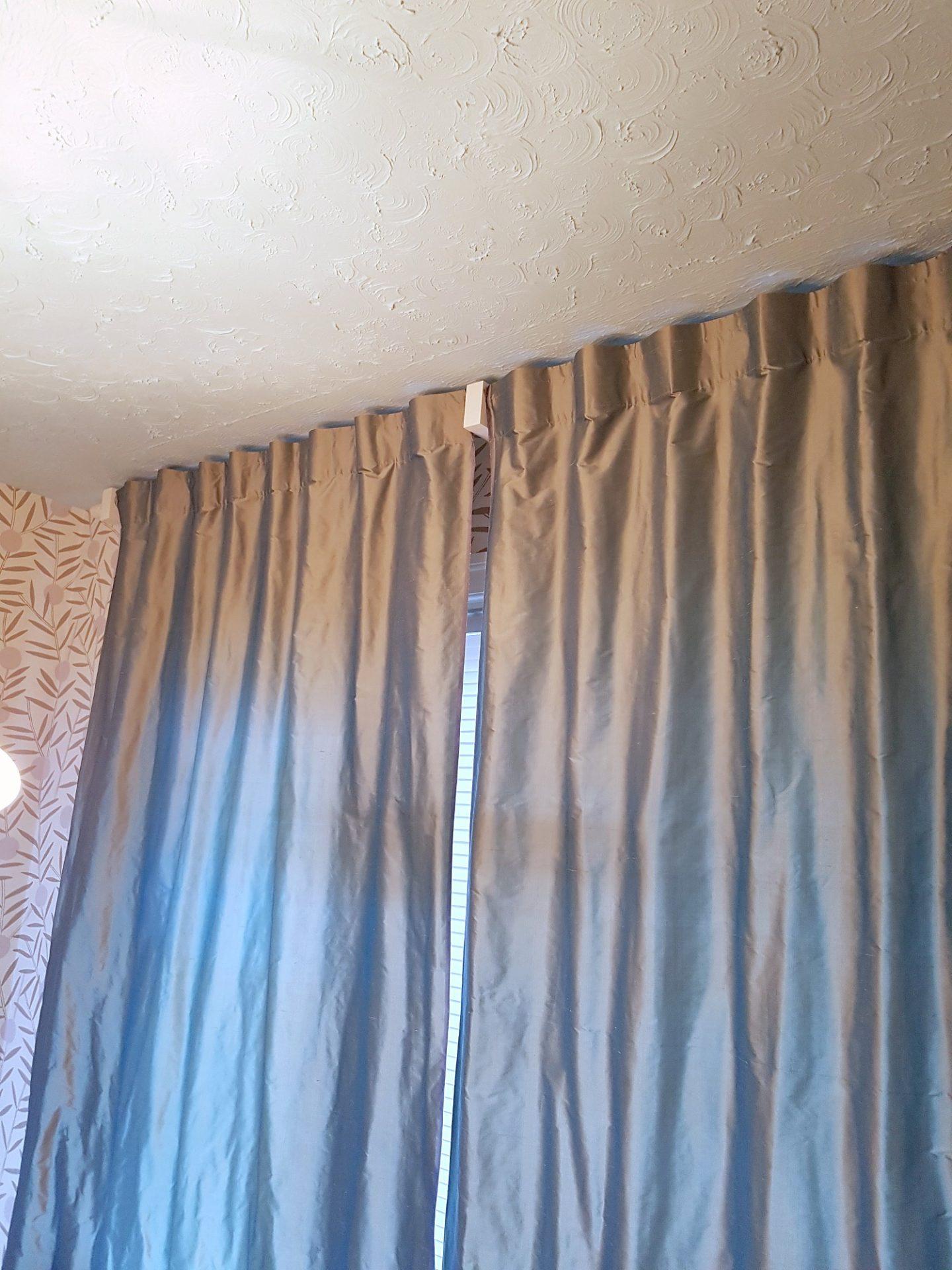 back tab silk curtains