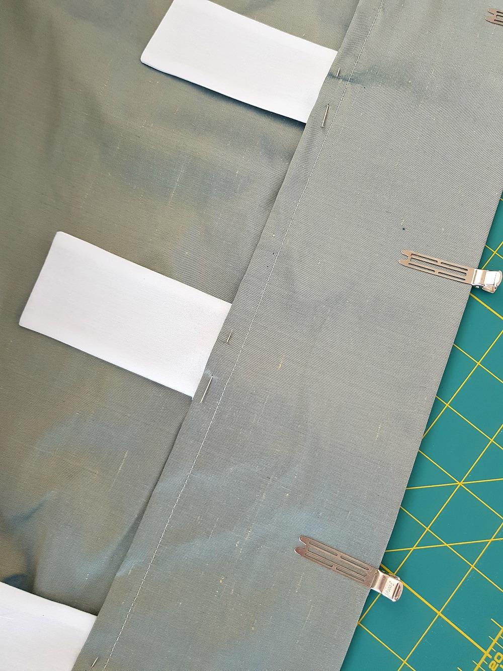 DIY silk draperies