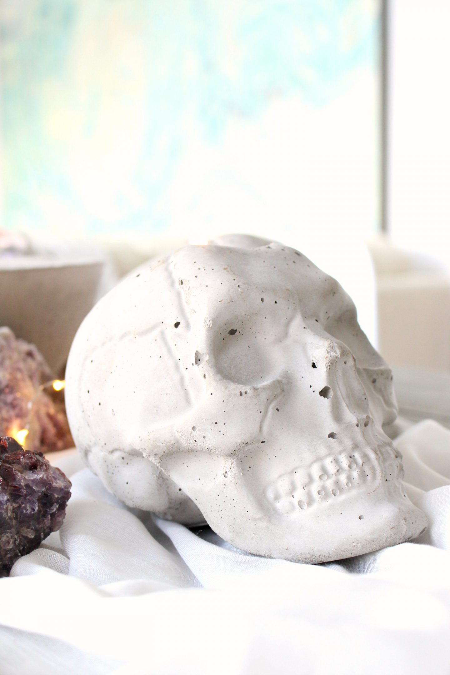 DIY Concrete Skull Tutorial