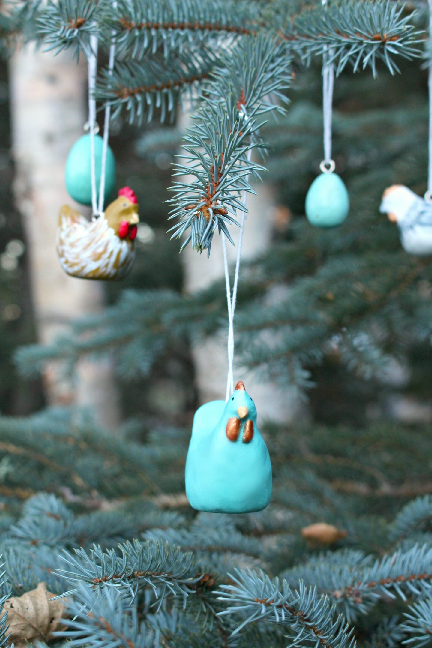 Handmade Chicken Christmas Tree Ornament