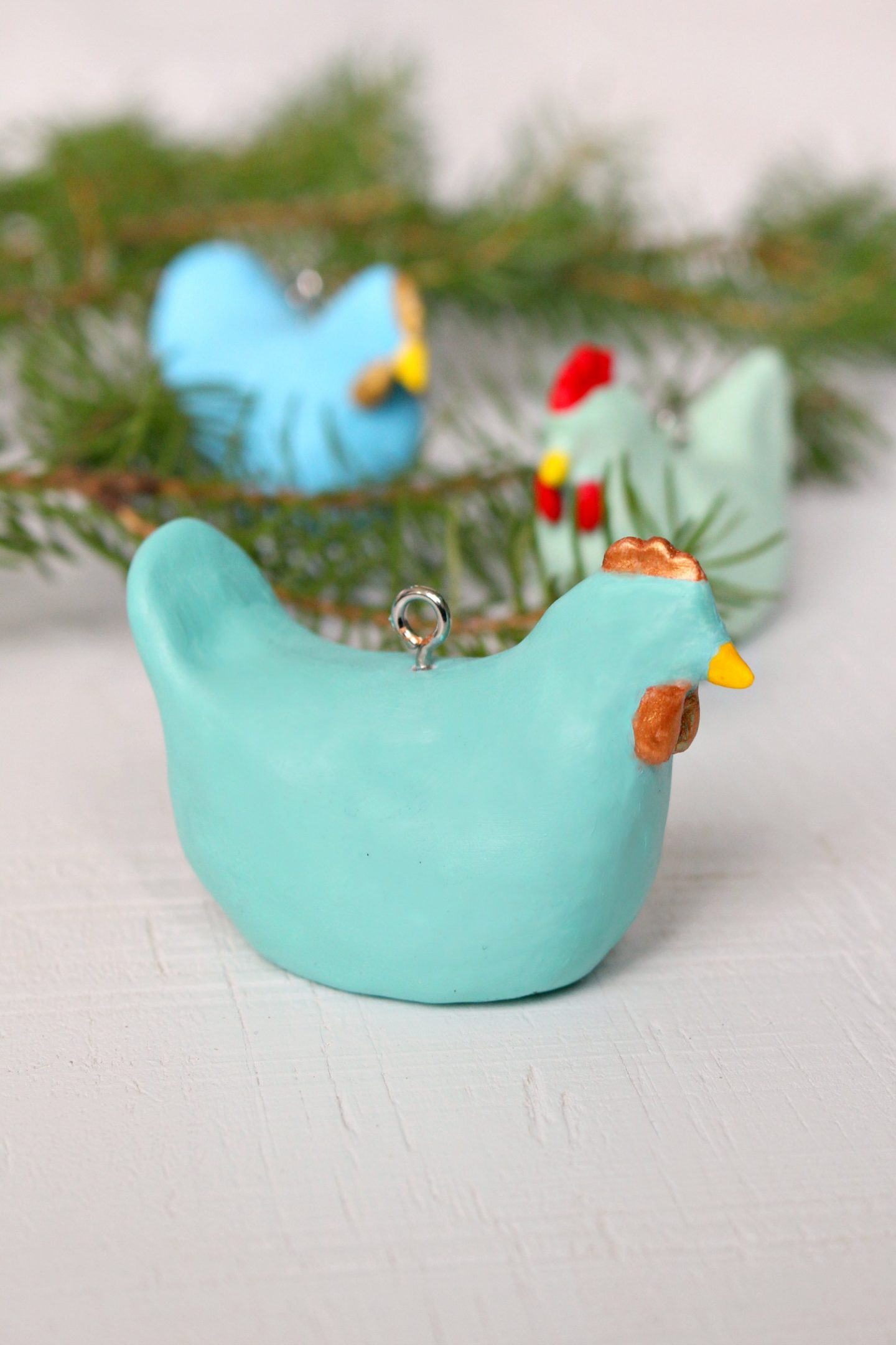 Easy DIY Chicken Christmas Ornament