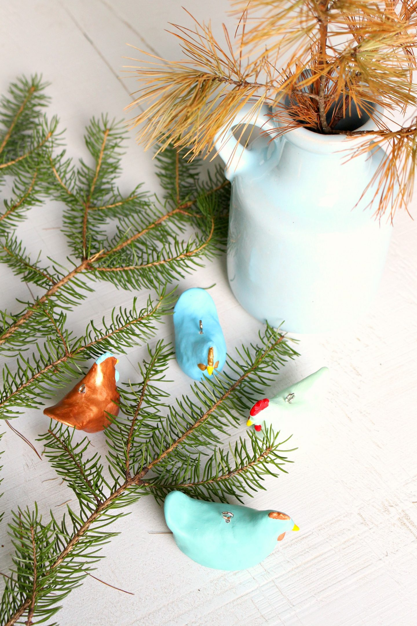 Colorful Chicken Ornaments