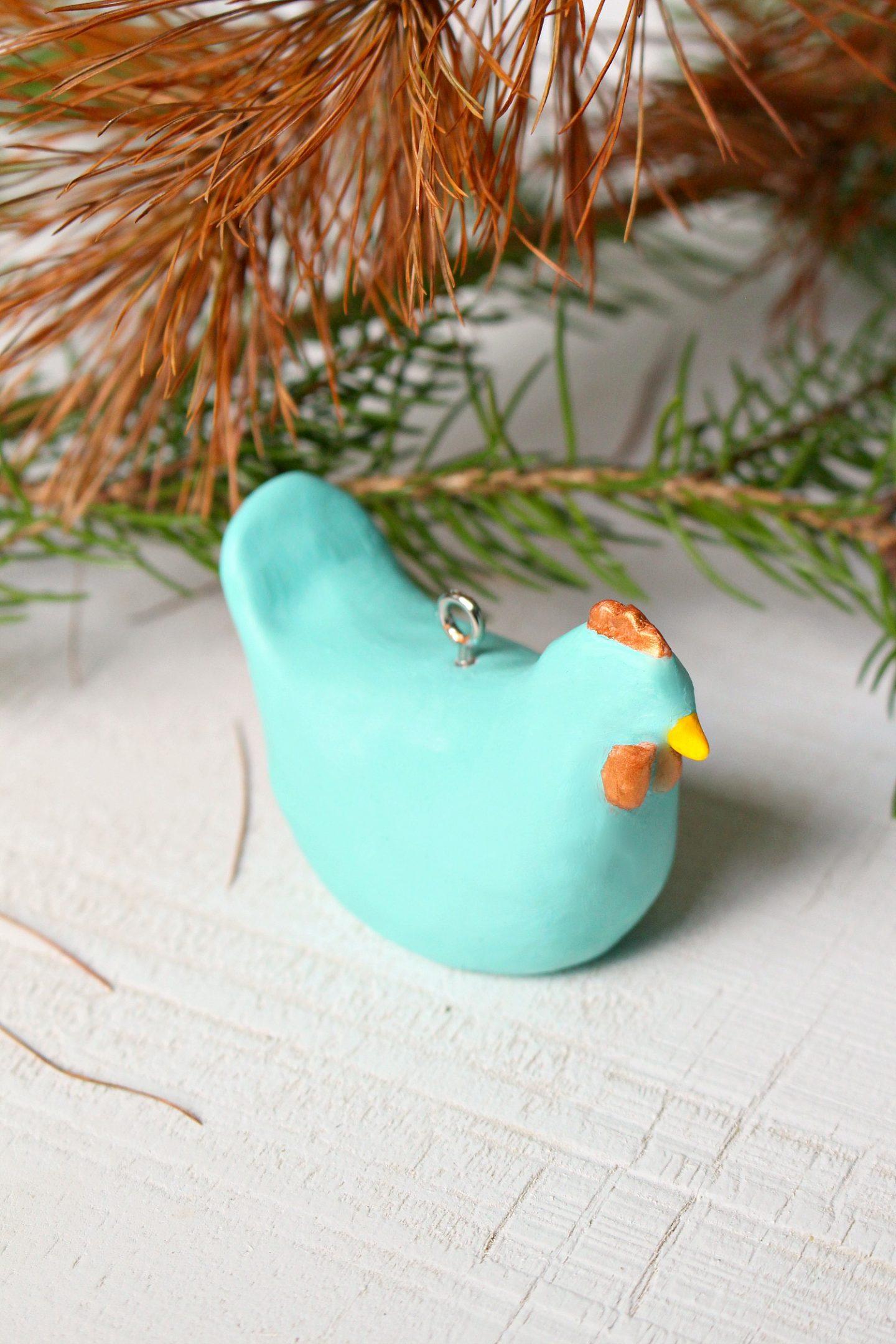 DIY Chicken Lover Christmas Ornament