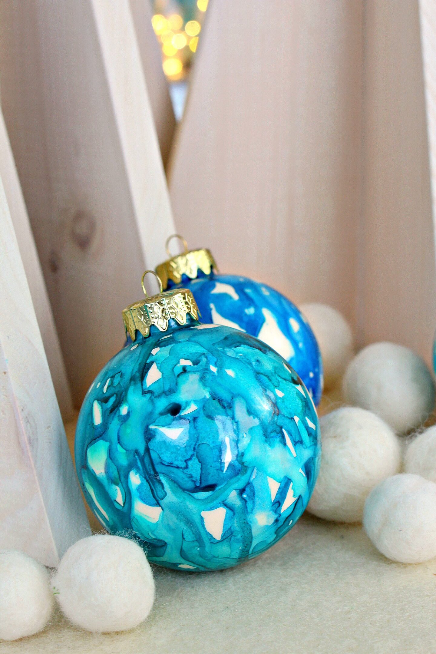 Wave Inspired Christmas Tree Ornaments