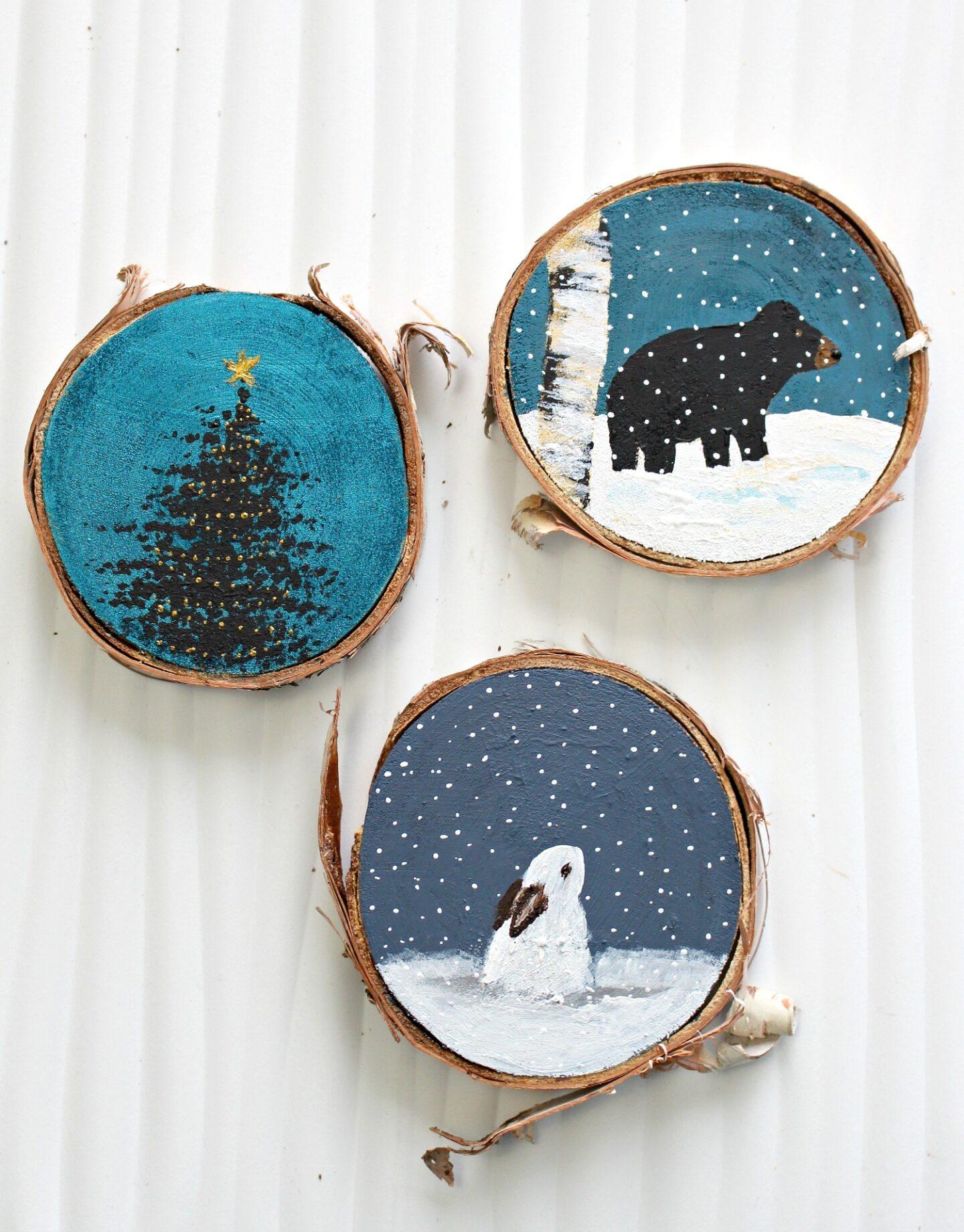 Décorations de Noël sur le thème de la forêt