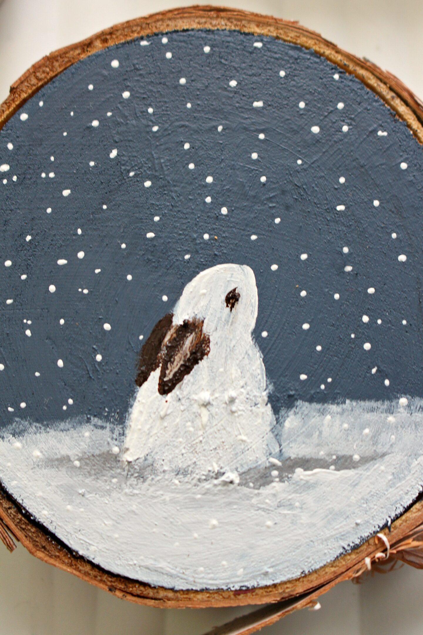 Décoration de sapin de Noël Bunny Snow