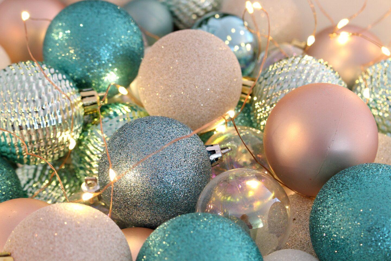 Pink and Aqua Ornaments