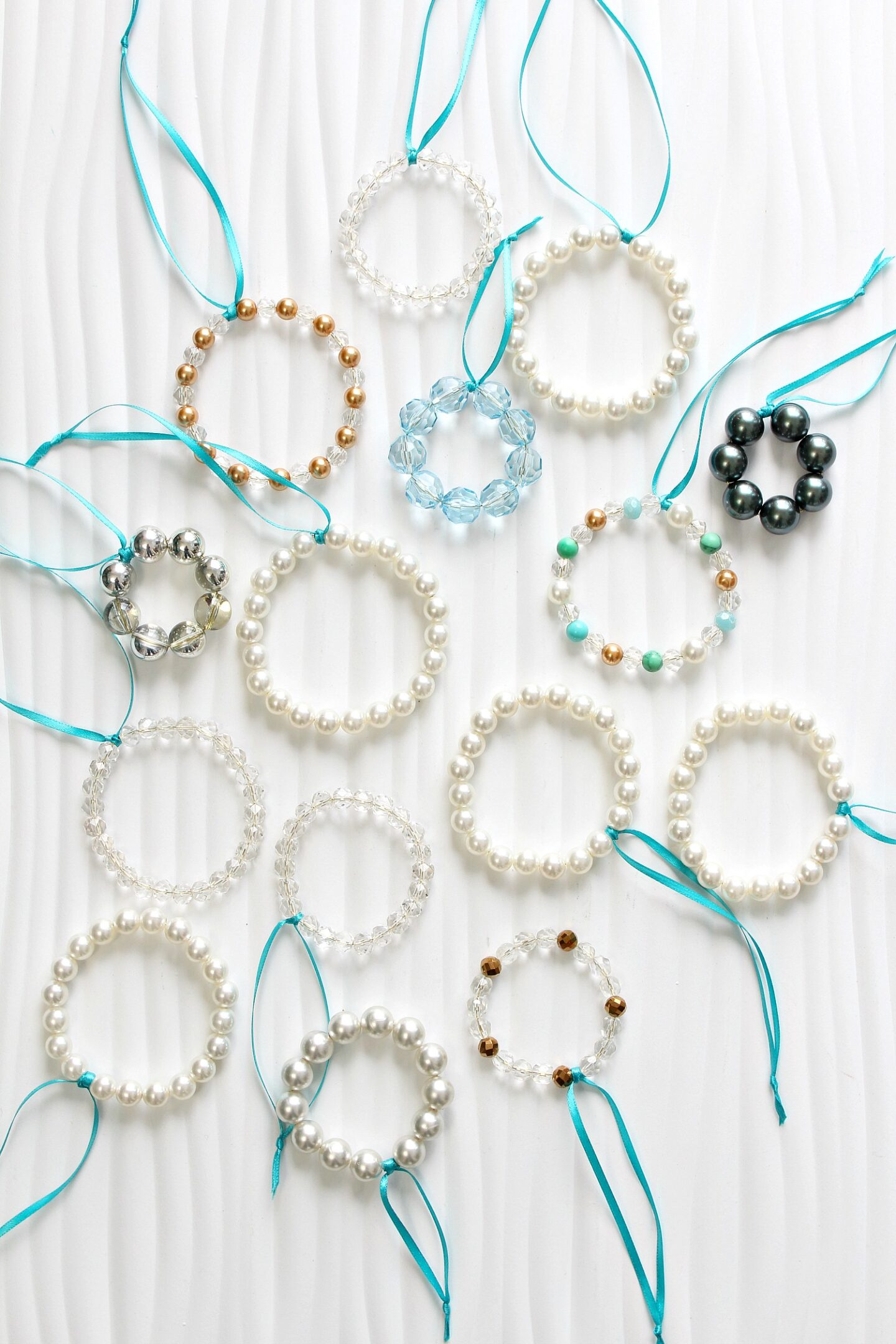 DIY Beaded Wreath Christmas Ornaments